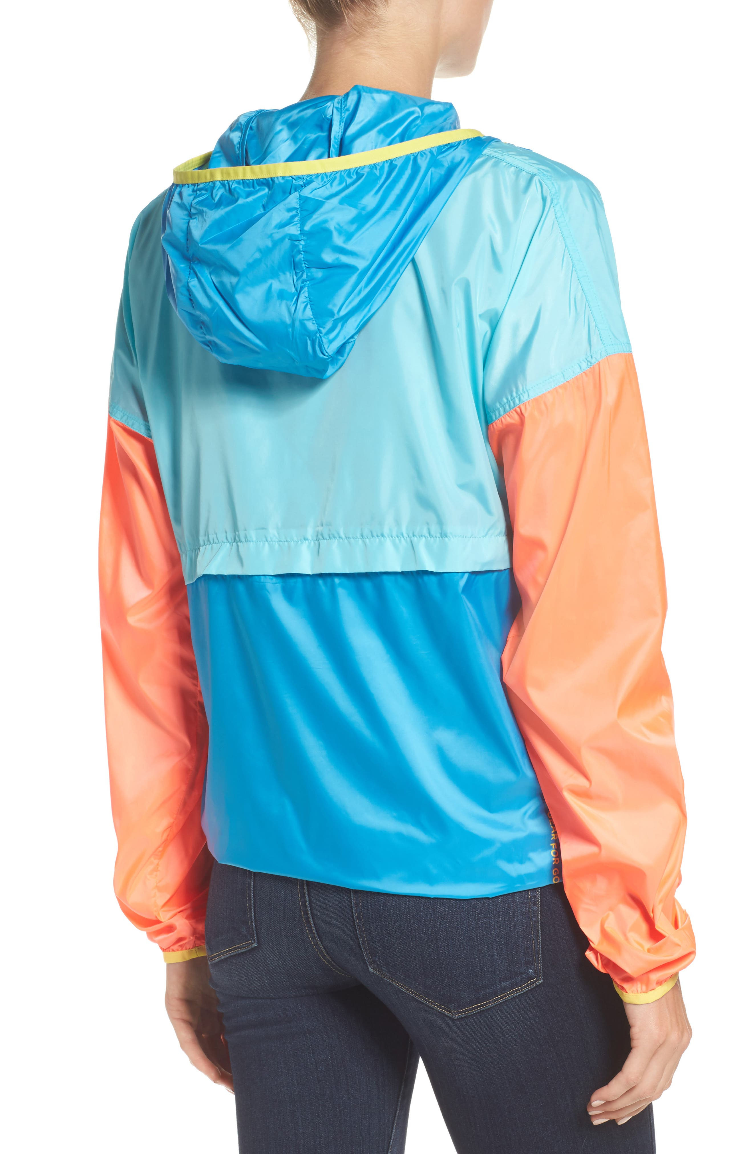 Teca Packable Water Resistant Windbreaker Jacket,                             Alternate thumbnail 10, color,