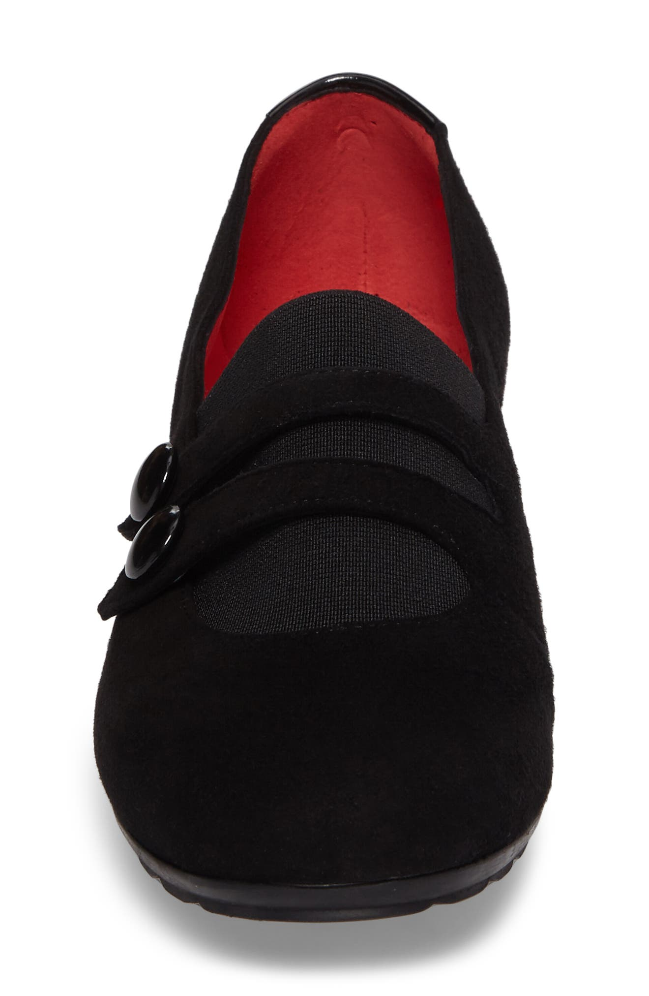 Double Strap Wedge,                             Alternate thumbnail 4, color,                             001