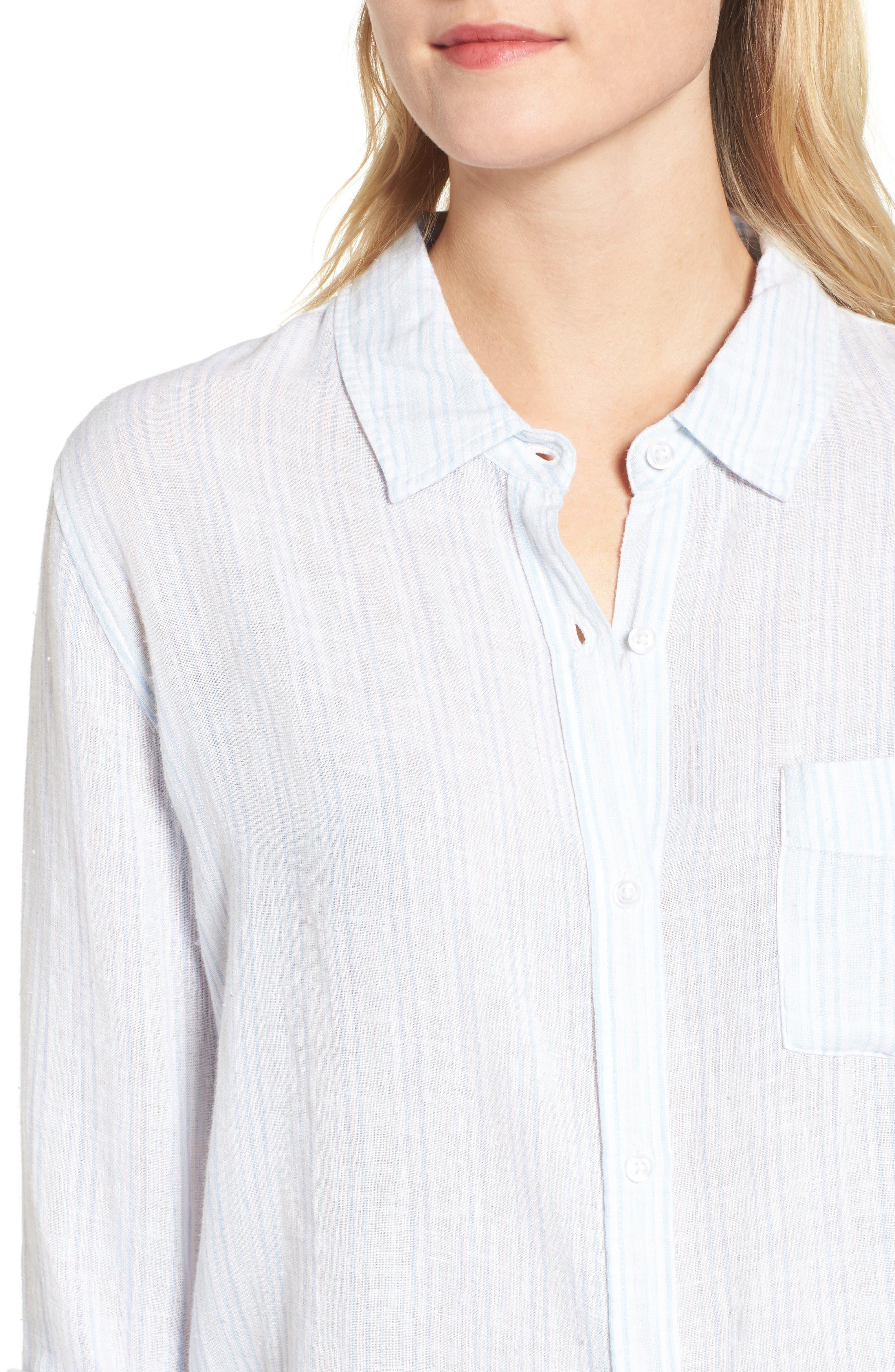 Charli Stripe Shirt,                             Alternate thumbnail 4, color,