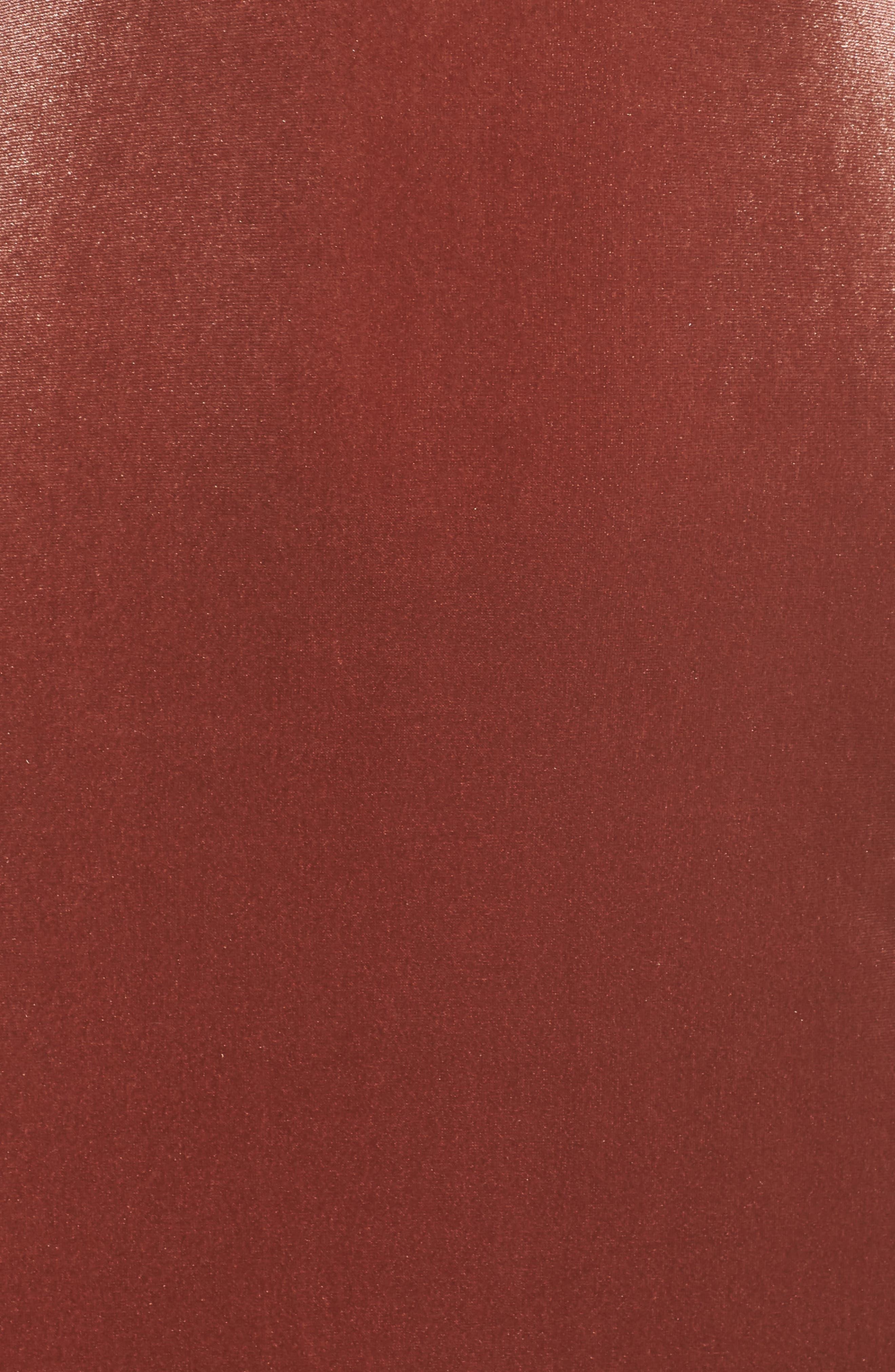 Sullivan Velvet Cowl Neck Gown,                             Alternate thumbnail 5, color,                             ENGLISH ROSE