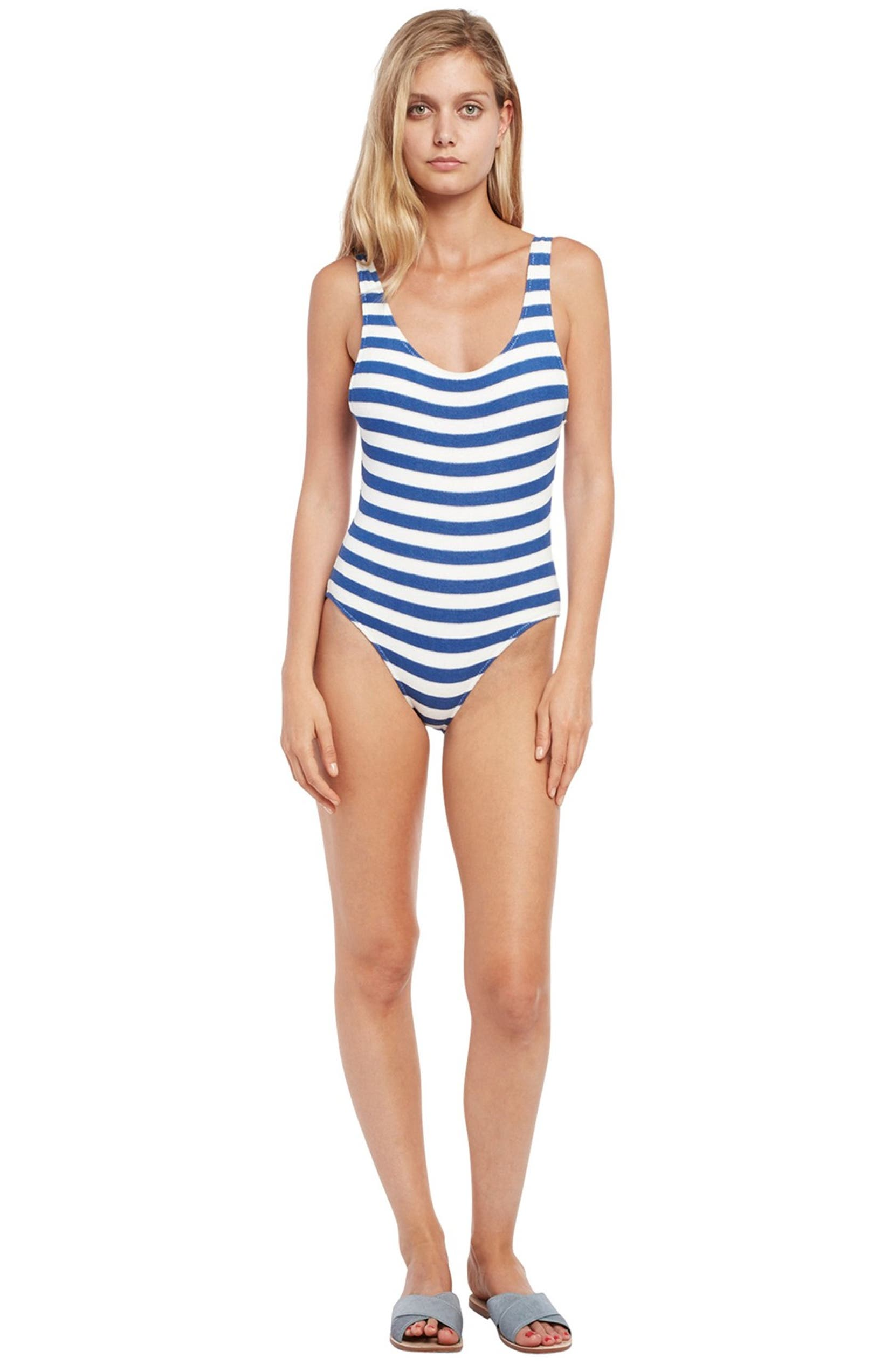 7c07780b48fae Solid   Striped  The Anne-Marie  Scoop Back One-Piece Swimsuit ...