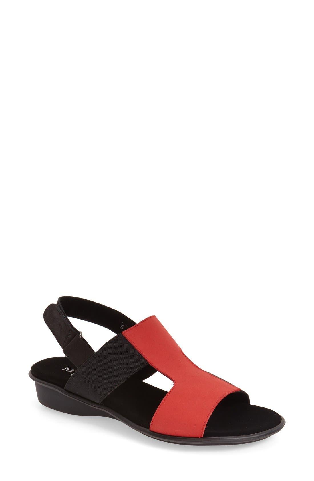 'Eudore' Slingback Sandal,                             Main thumbnail 1, color,                             RED NUBUCK