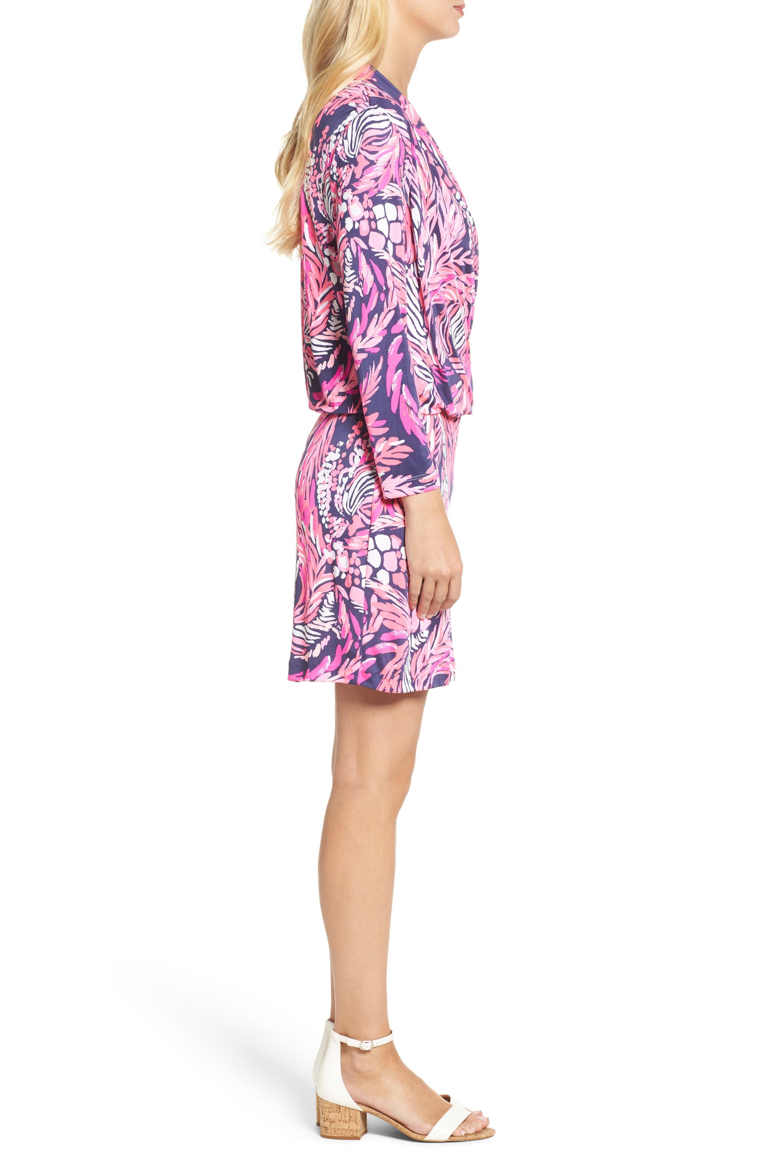 Felizia Silk Dress,                             Alternate thumbnail 3, color,