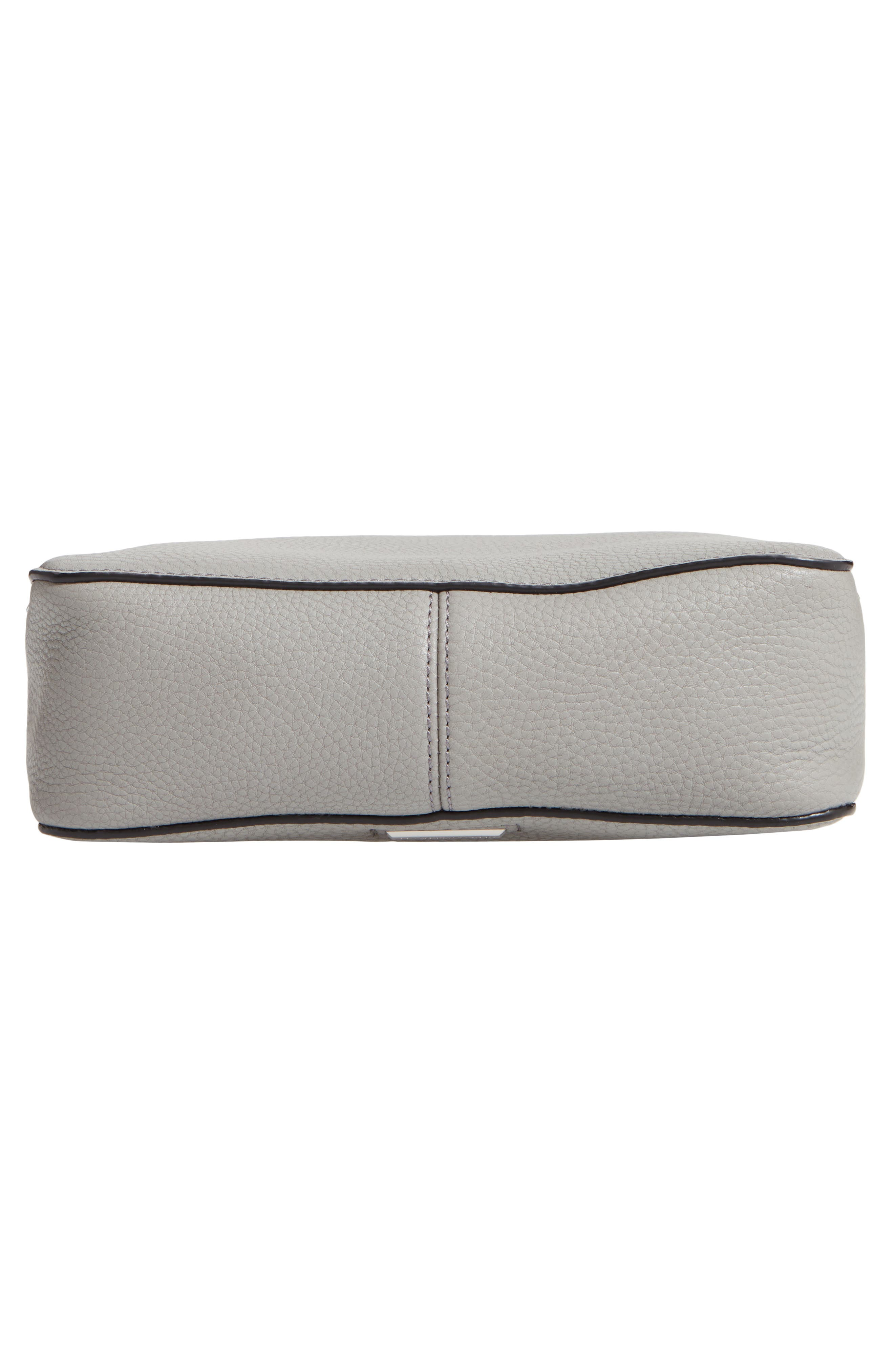 Small Studded Leather Feed Bag,                             Alternate thumbnail 7, color,                             GREY