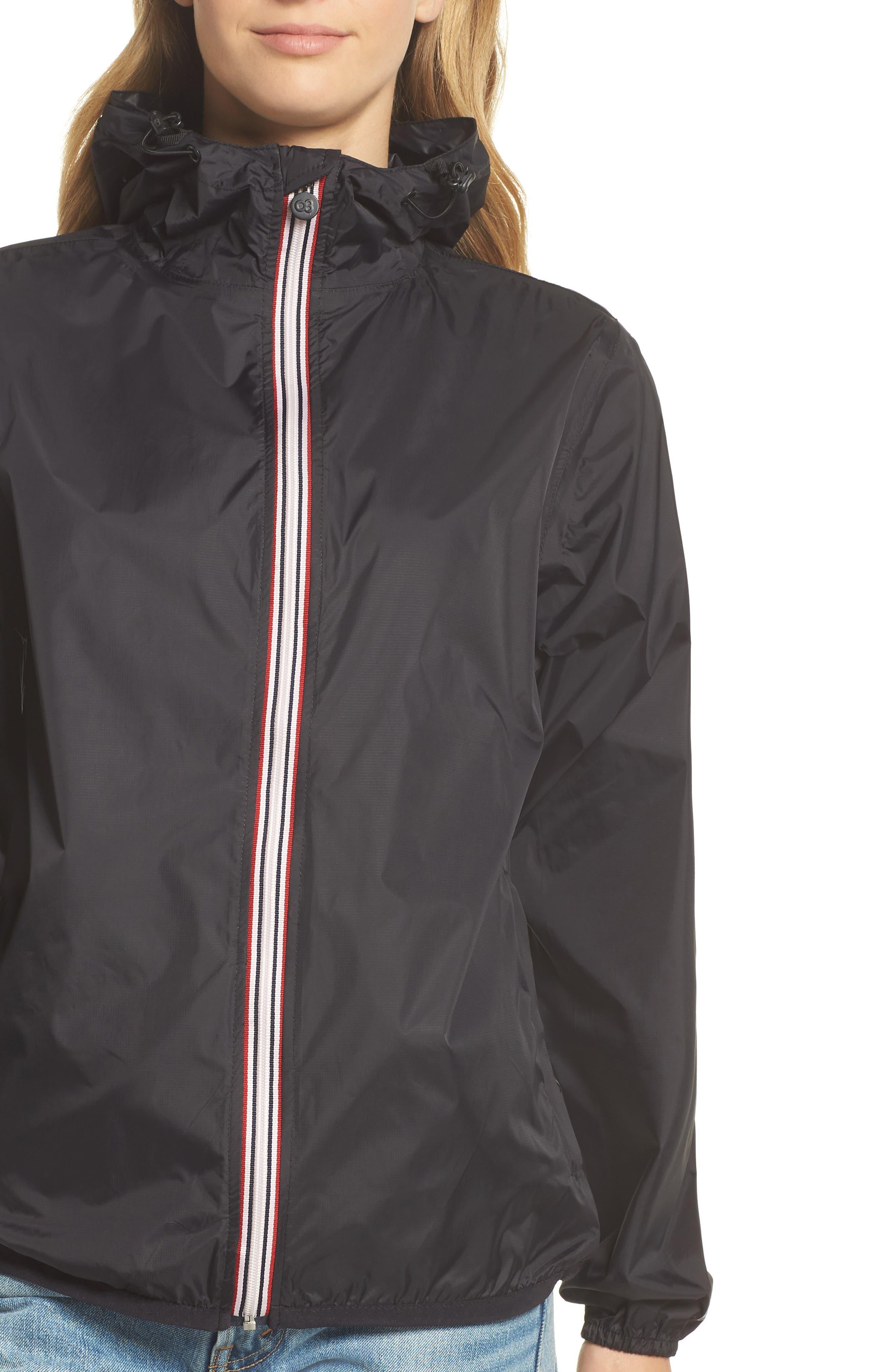 Packable Rain Jacket,                             Alternate thumbnail 4, color,                             BLACK