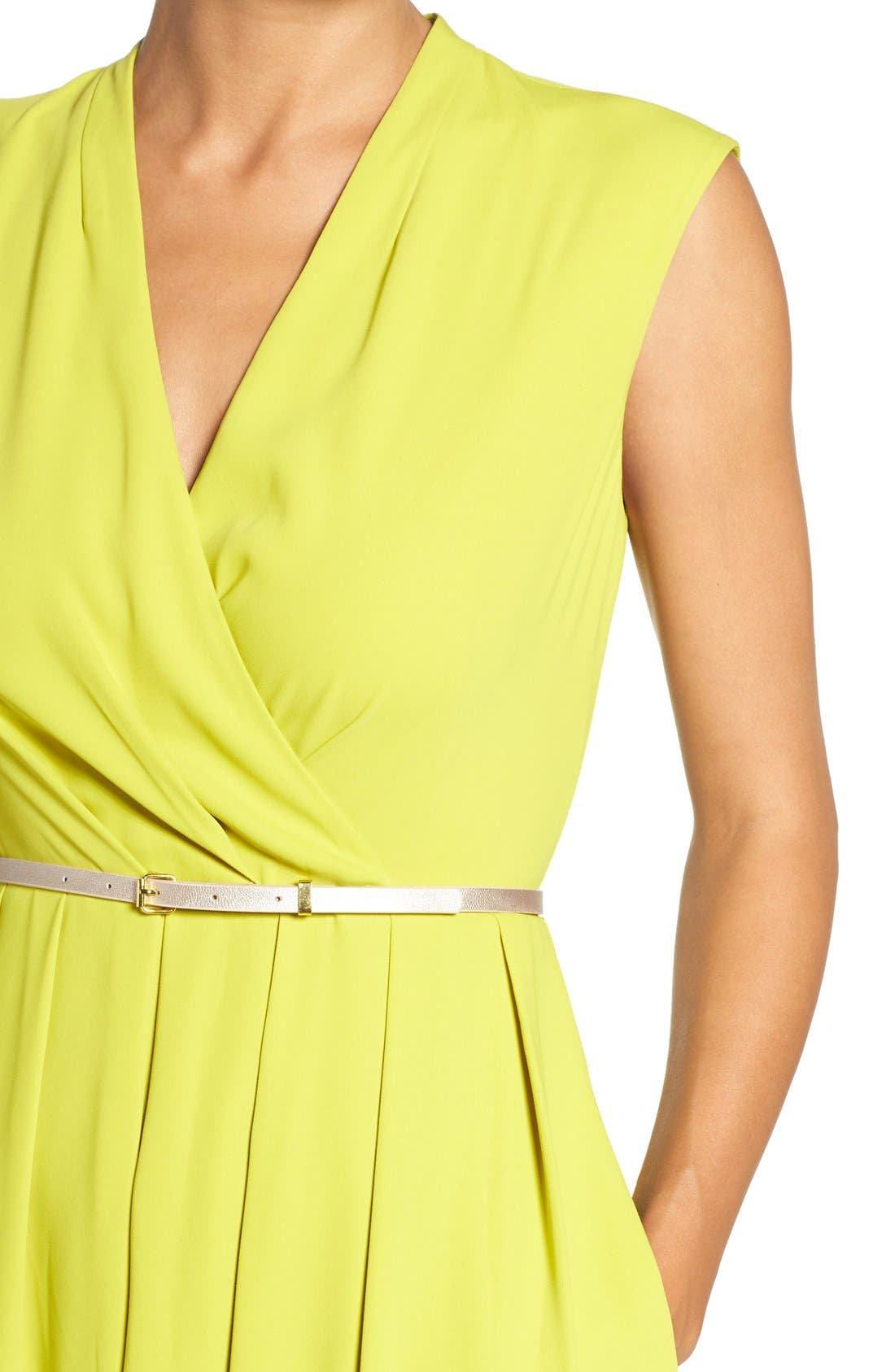 Belted Woven Fit & Flare Dress,                             Alternate thumbnail 12, color,