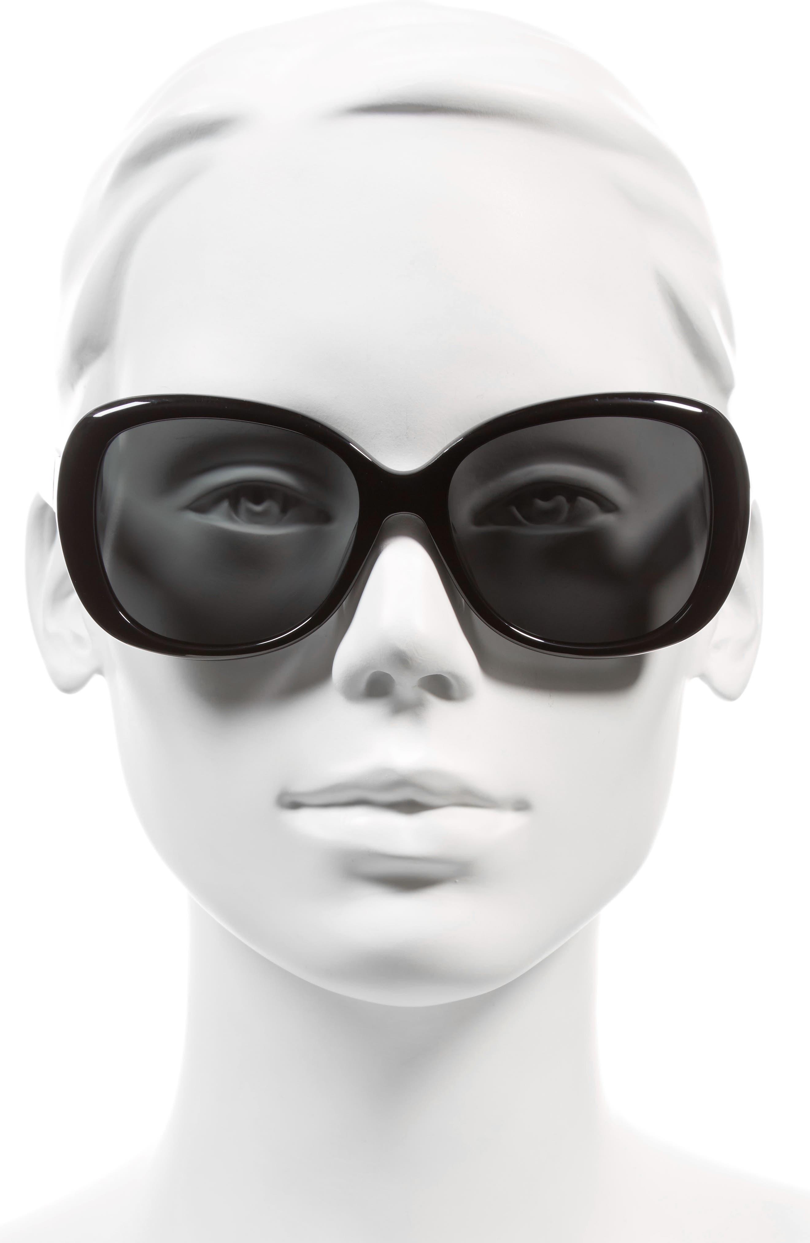 judyann 56mm polarized sunglasses,                             Alternate thumbnail 2, color,                             BLACK/ IVORY