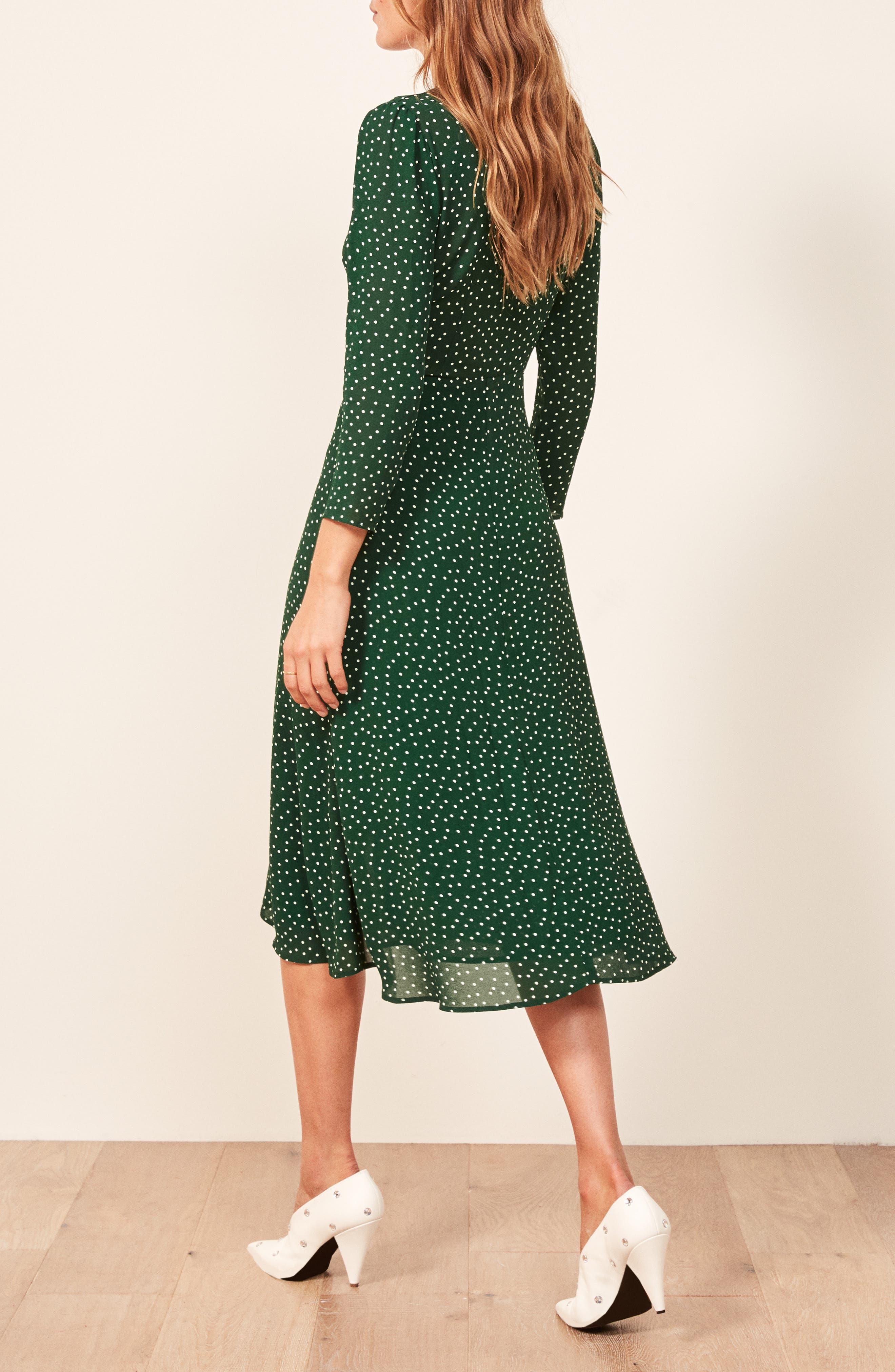 Alma Midi Dress,                             Alternate thumbnail 3, color,                             ROSEMARY
