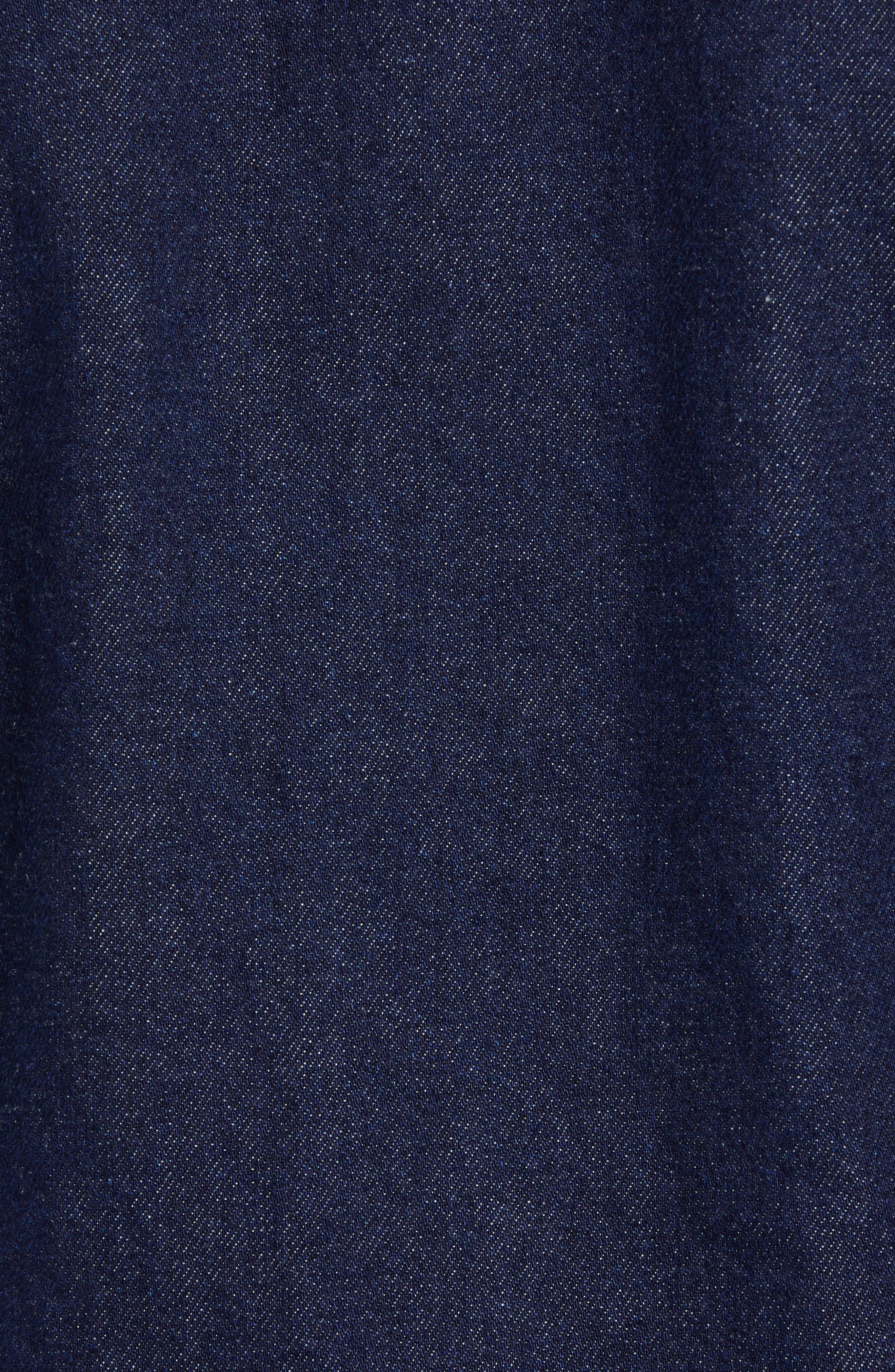 Raw Denim Jacket,                             Alternate thumbnail 7, color,                             DARK BLUE