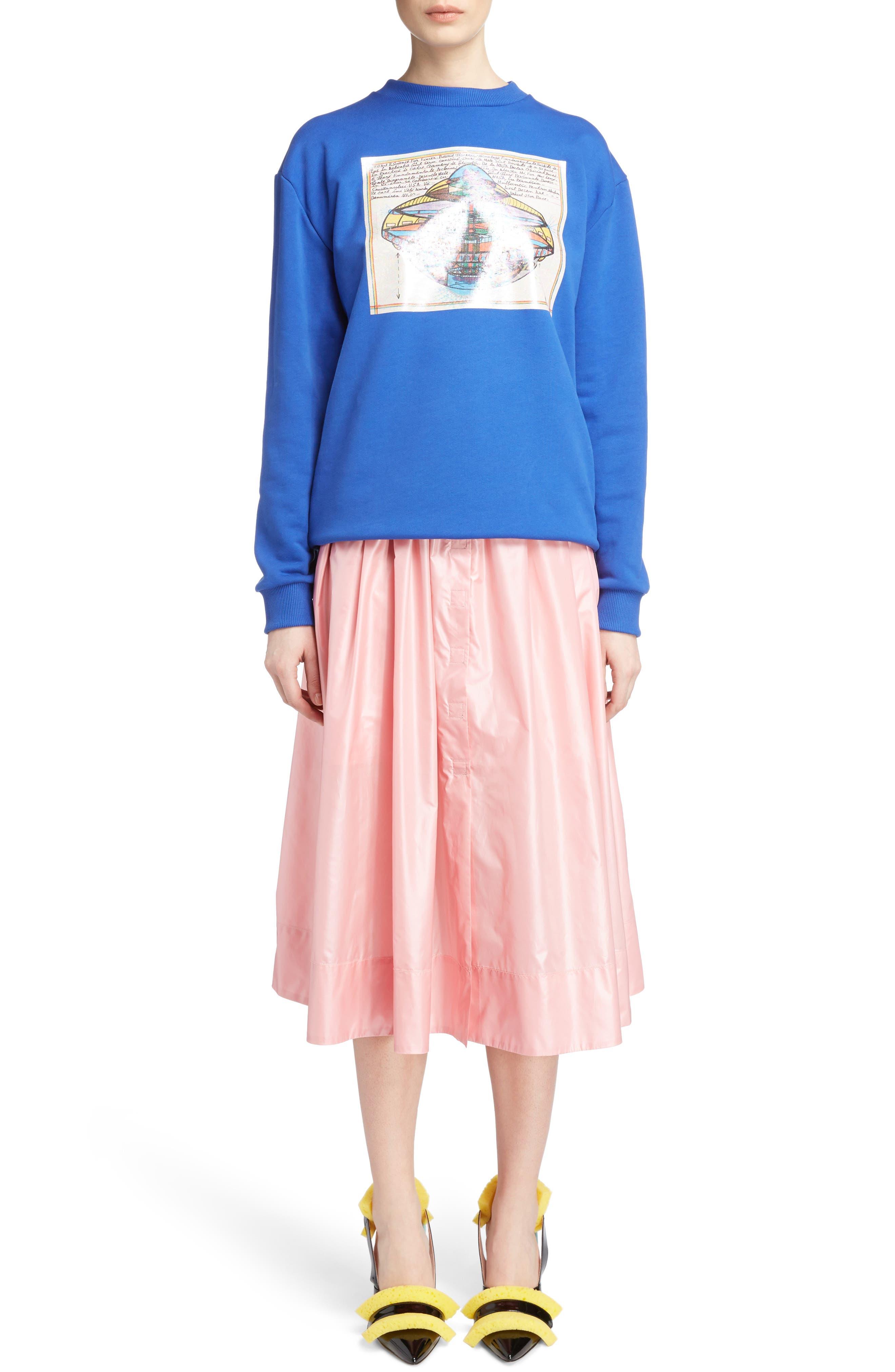 Nylon Parachute Skirt,                             Alternate thumbnail 6, color,                             650