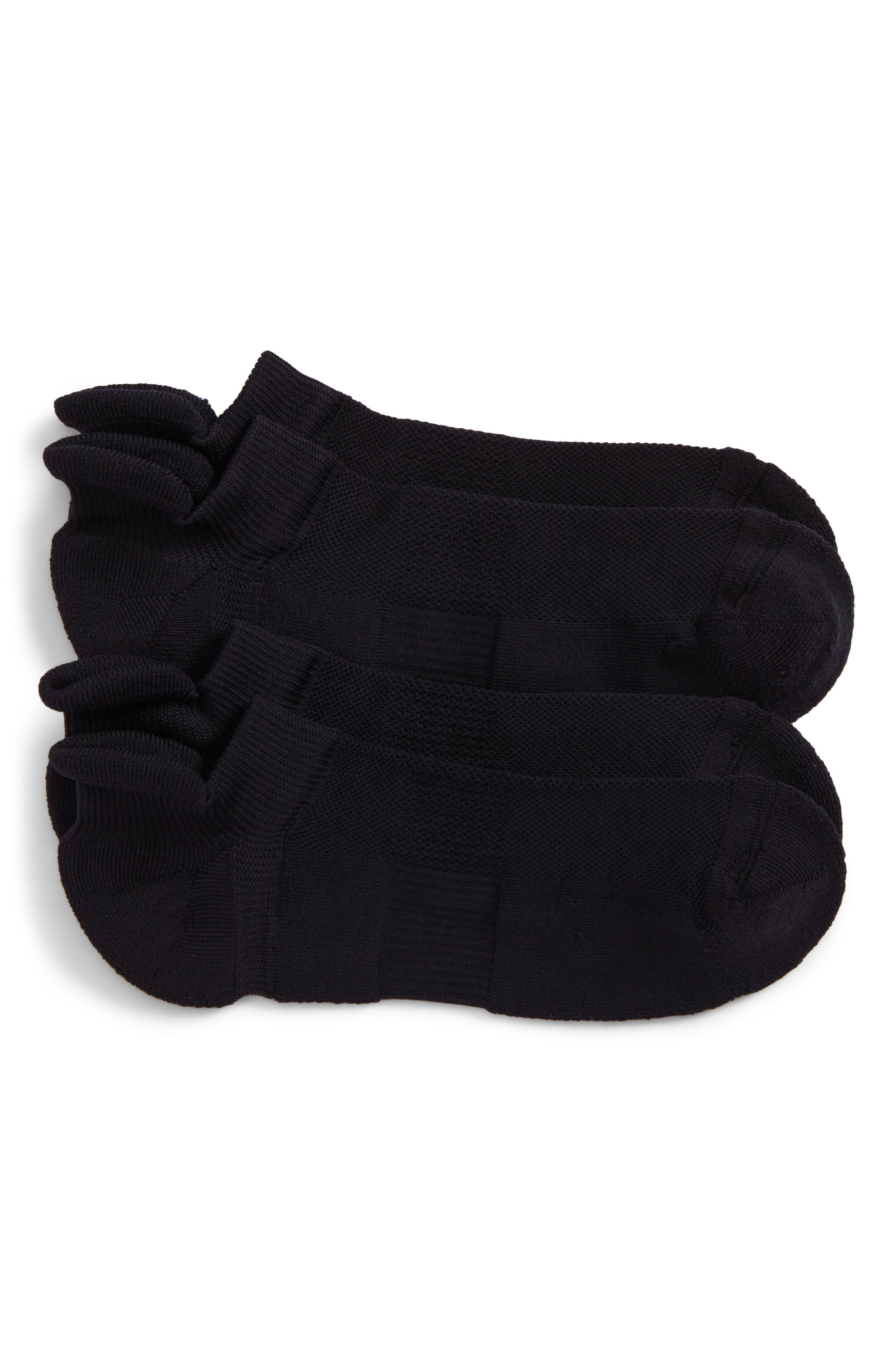2-Pack Tech-Smart No-Show Socks,                             Main thumbnail 1, color,                             001