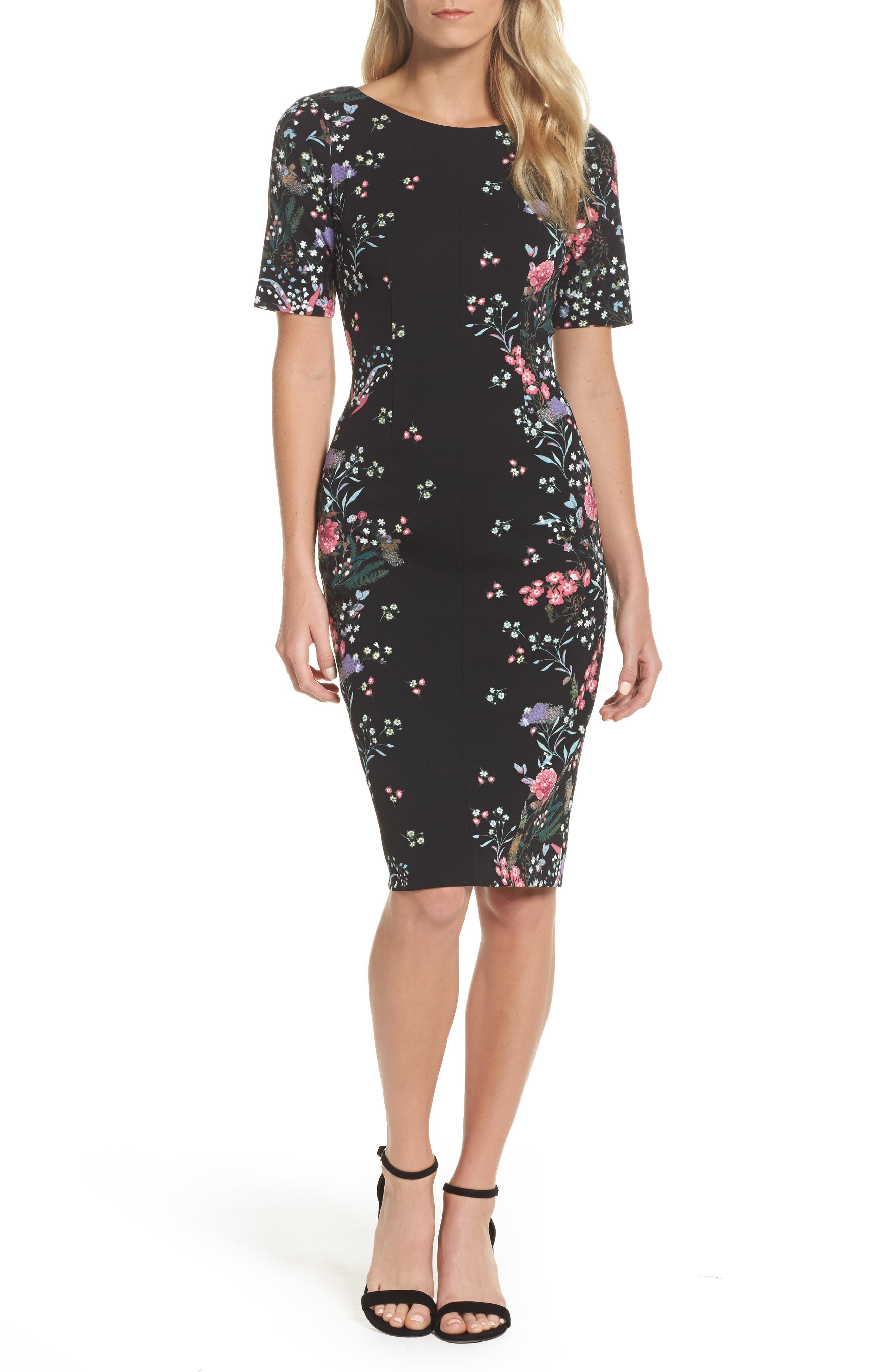 Print Sheath Dress,                             Main thumbnail 1, color,                             003