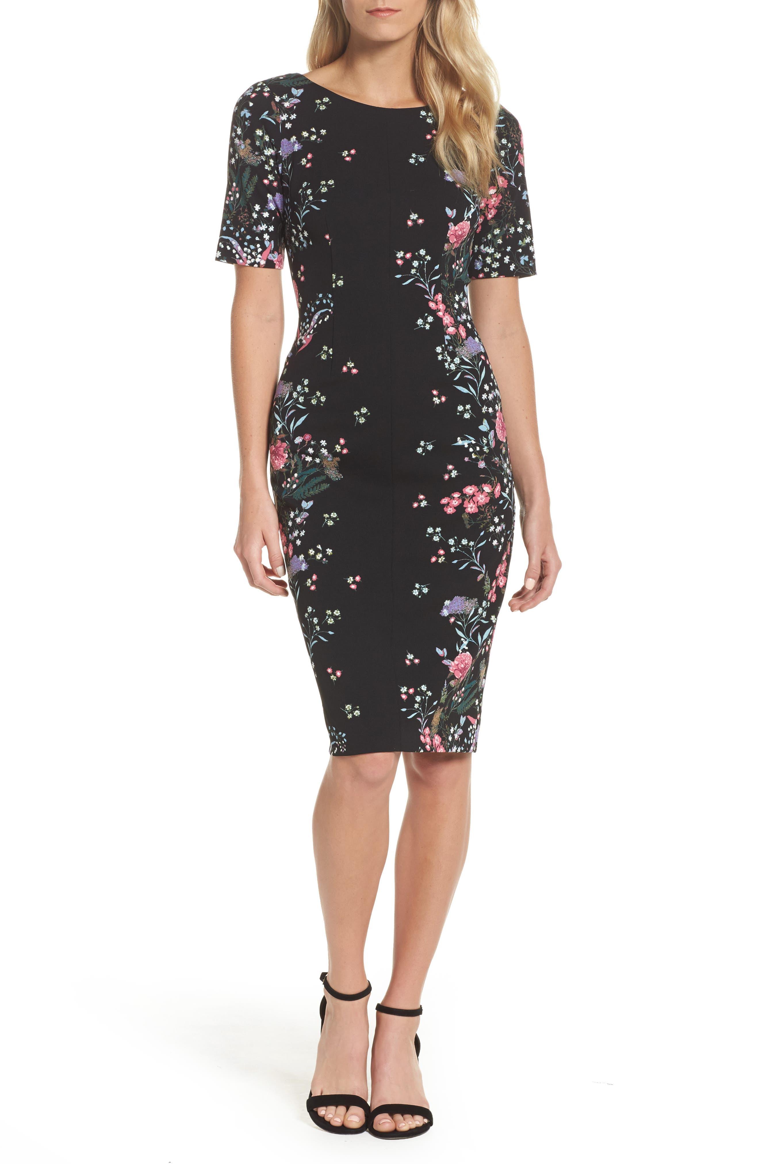 Print Sheath Dress,                         Main,                         color, 003
