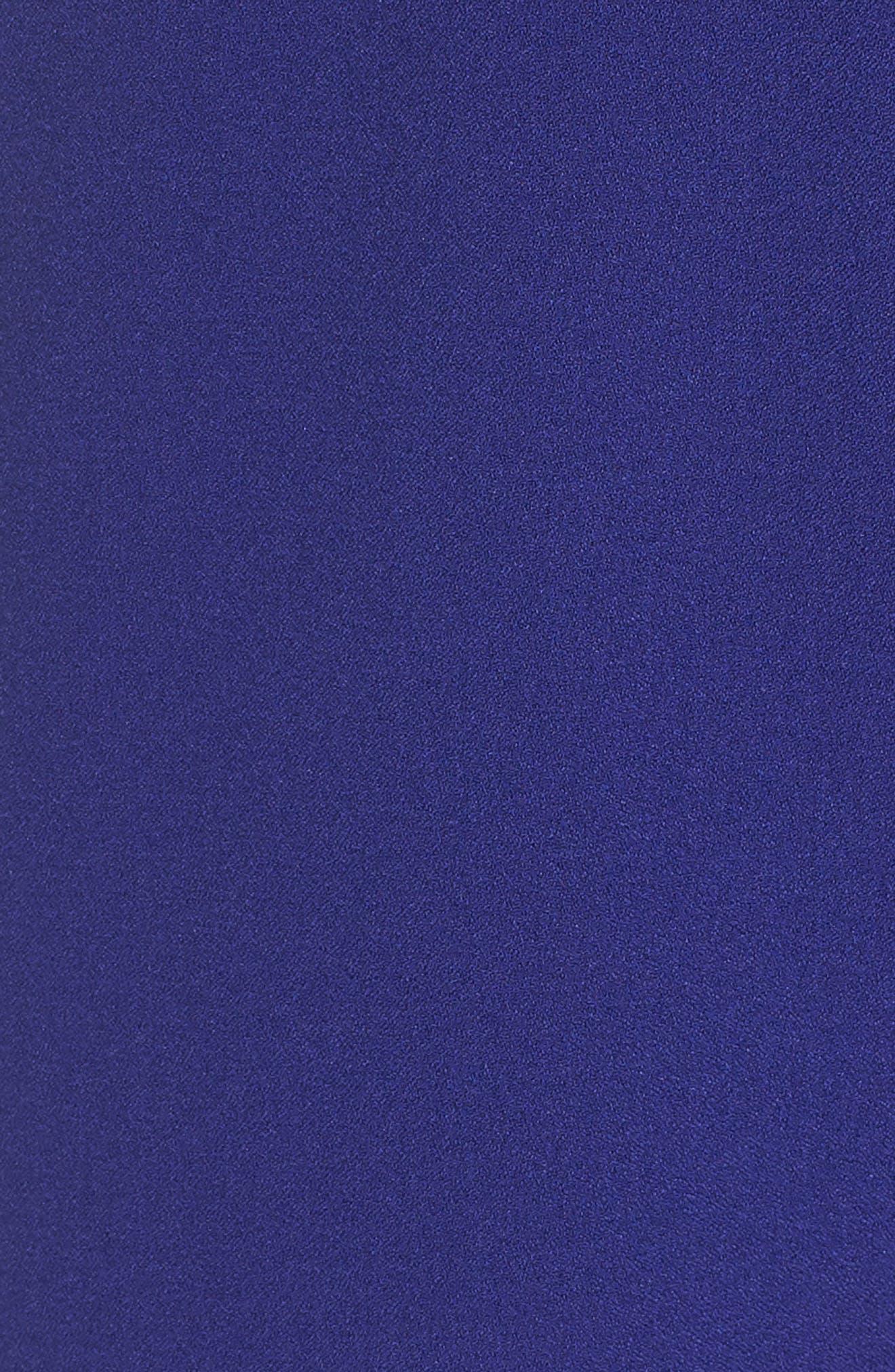 Tie Waist Crepe Jumpsuit,                             Alternate thumbnail 6, color,                             COBALT