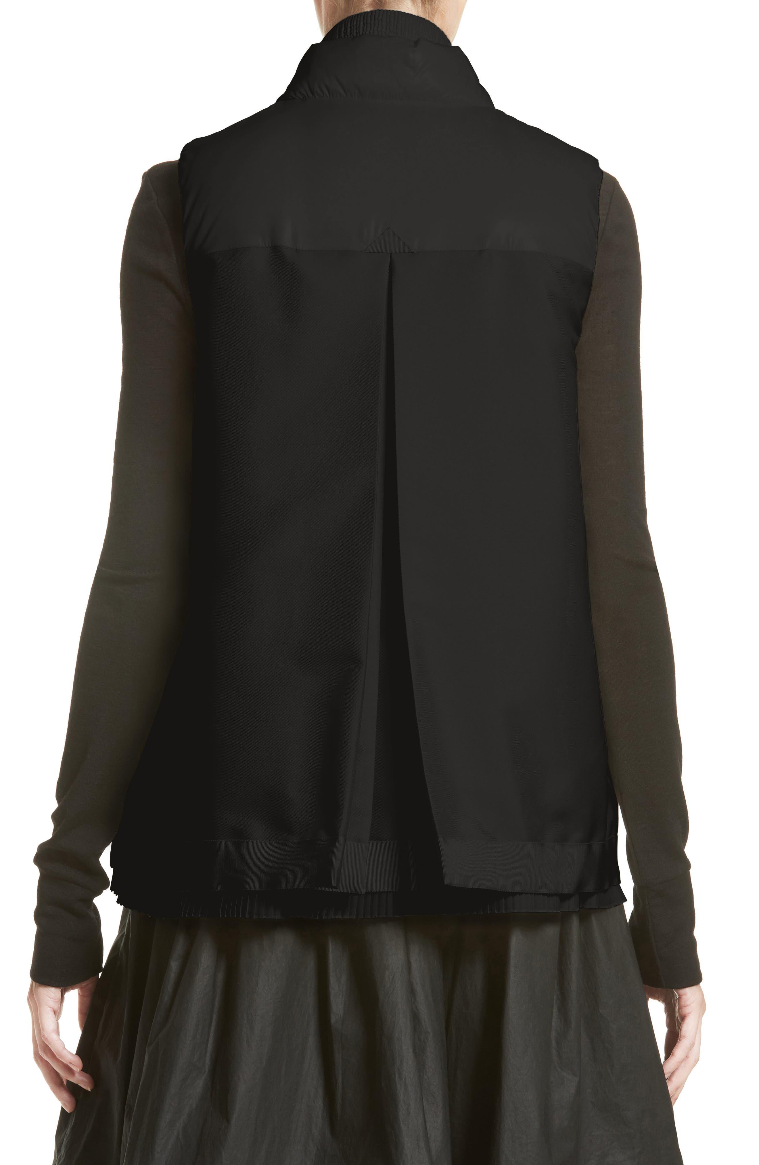 Jane Mixed Media Down Puffer Vest,                             Alternate thumbnail 2, color,                             001
