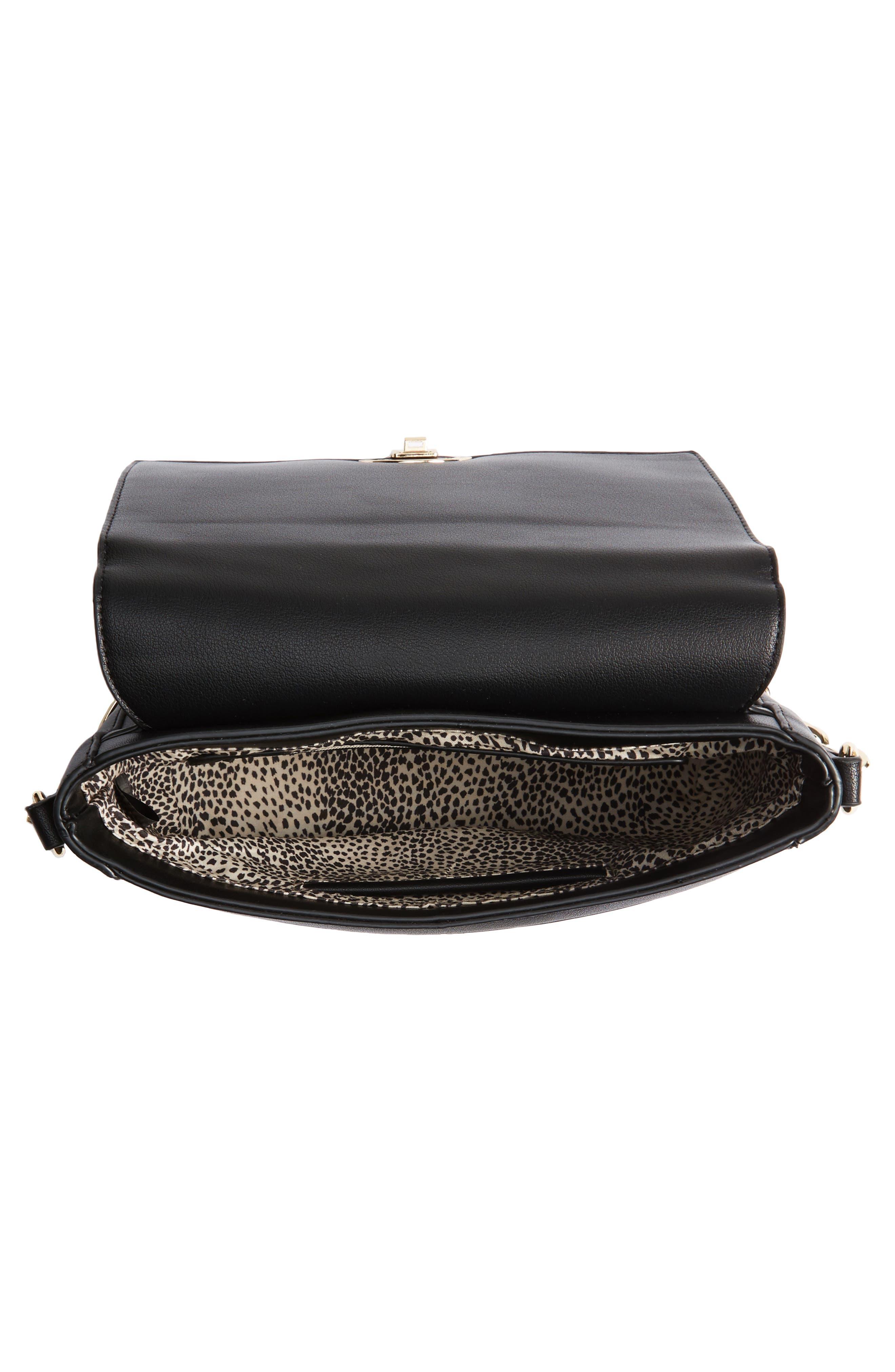 Colie Faux Leather Crossbody Bag,                             Alternate thumbnail 4, color,                             001