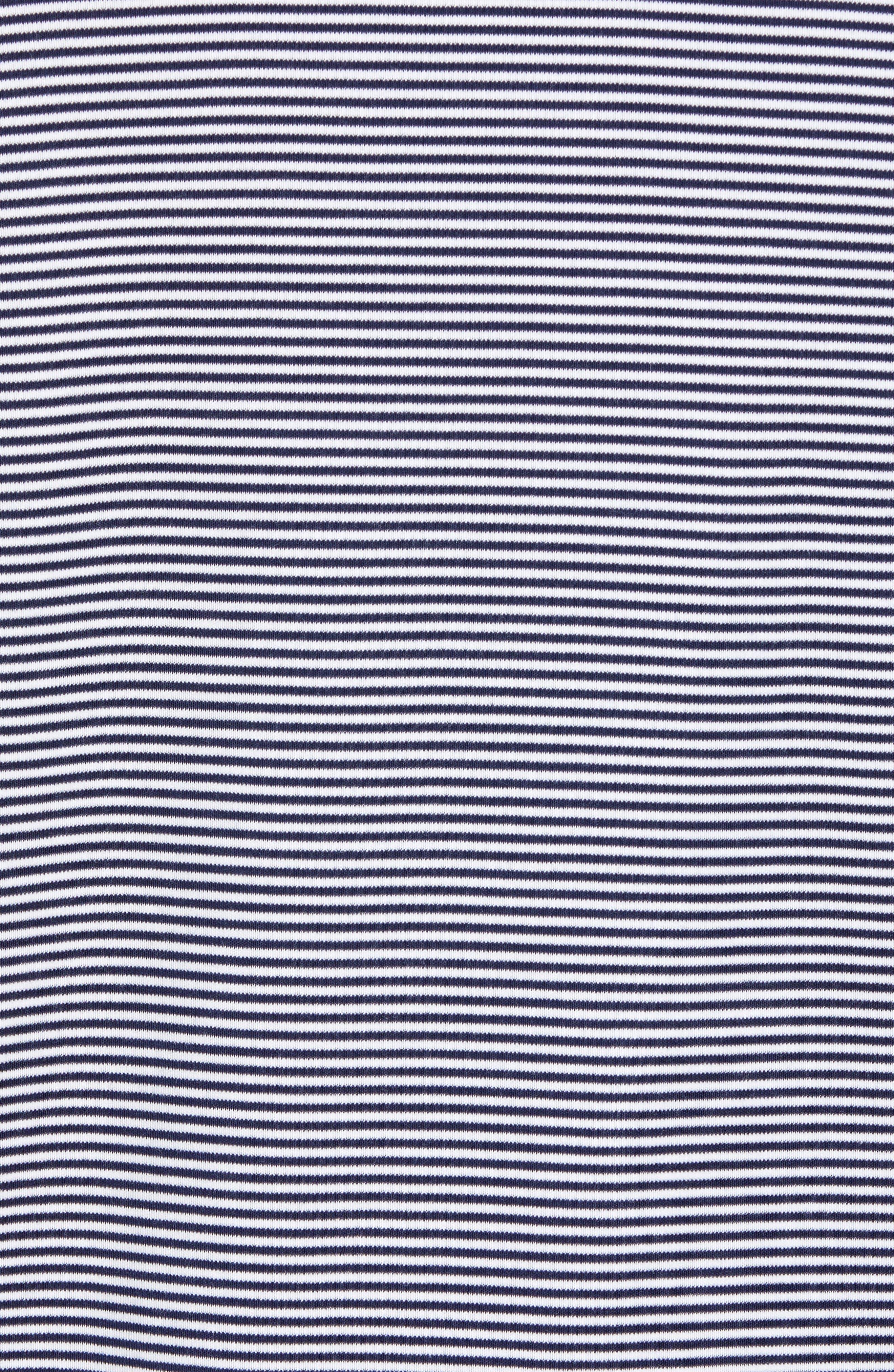 Gingen Trim Fit Stripe Polo,                             Alternate thumbnail 5, color,                             NAVY