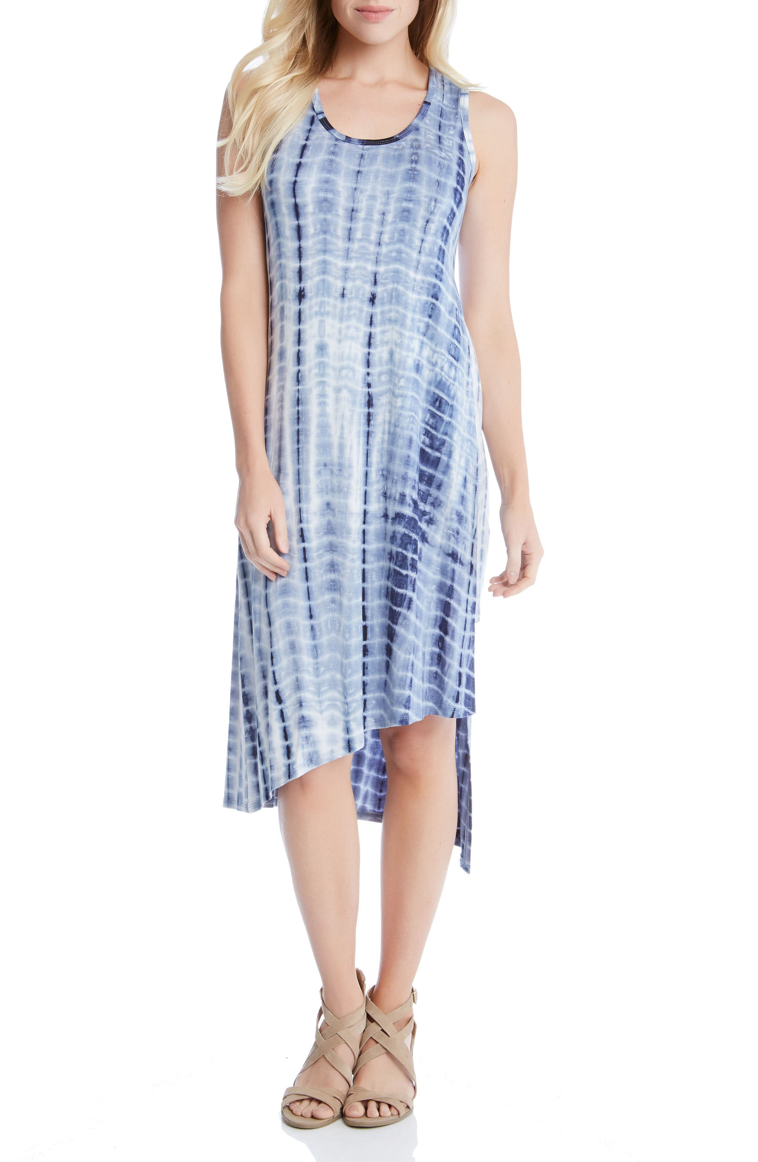 Stevie Print Jersey Asymmetrical Tank Dress,                         Main,                         color,