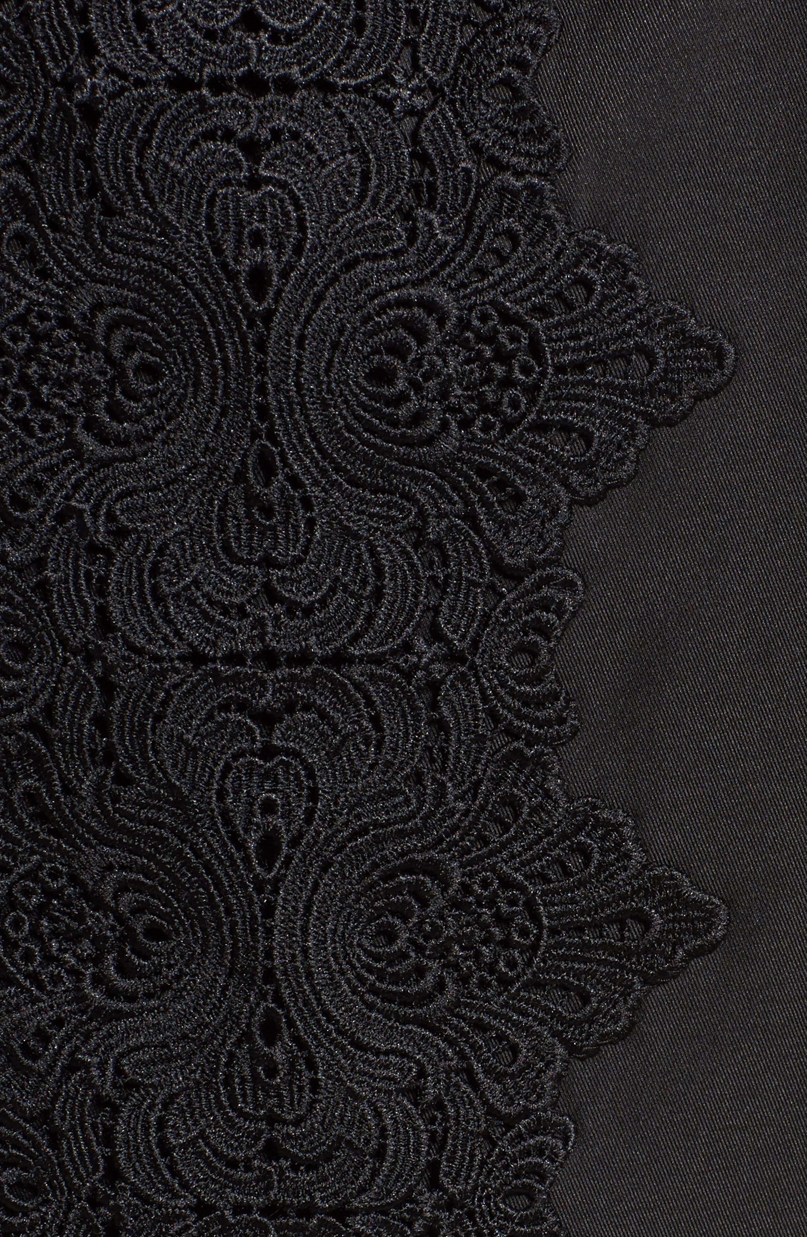 Lace Detail Anorak Jacket,                             Alternate thumbnail 6, color,                             001