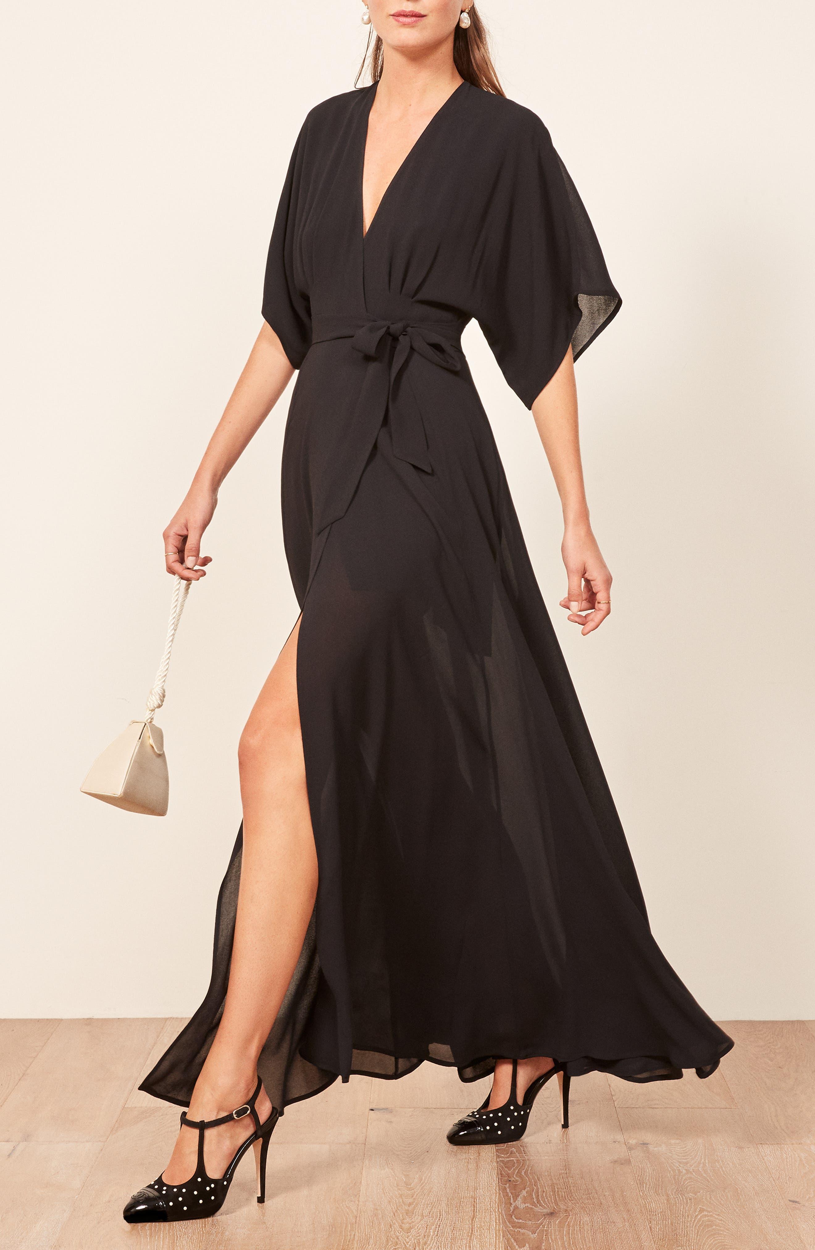 Winslow Maxi Dress,                             Alternate thumbnail 4, color,                             BLACK