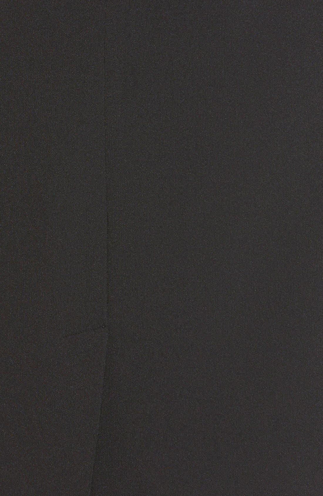 ADRIANNA PAPELL,                             Scalloped Crepe Sheath Dress,                             Alternate thumbnail 8, color,                             001