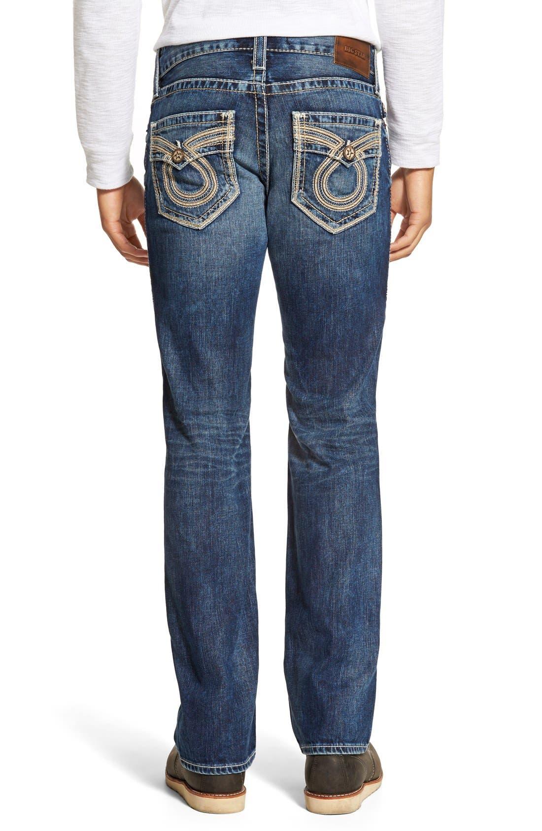 'Union' Straight Leg Jeans,                             Alternate thumbnail 3, color,                             423