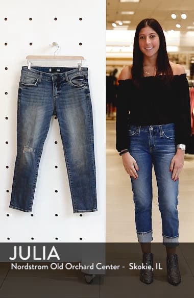 Catherine Ripped Straight Leg Ankle Jeans, sales video thumbnail