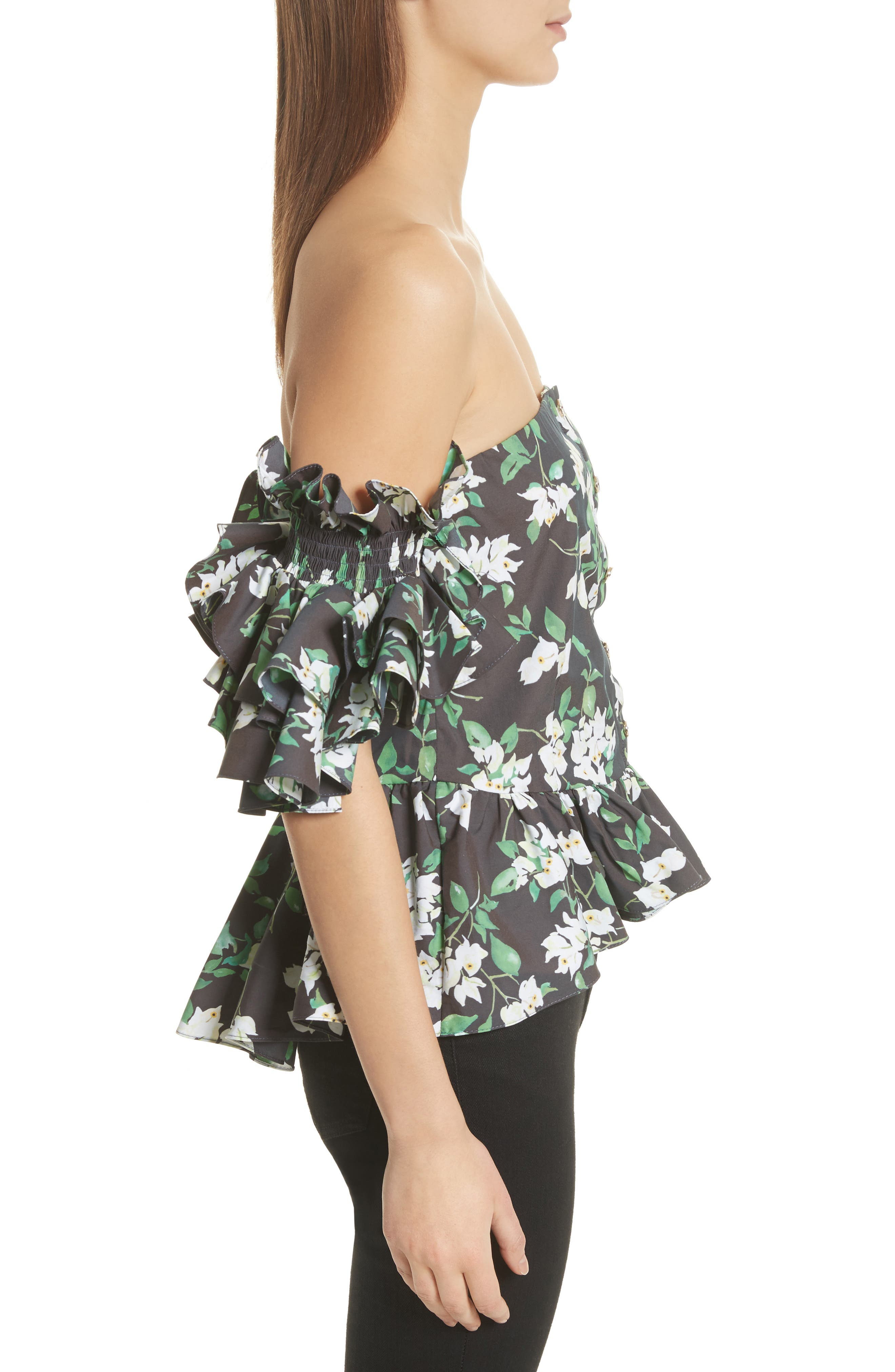 Justina Off the Shoulder Top,                             Alternate thumbnail 3, color,                             001