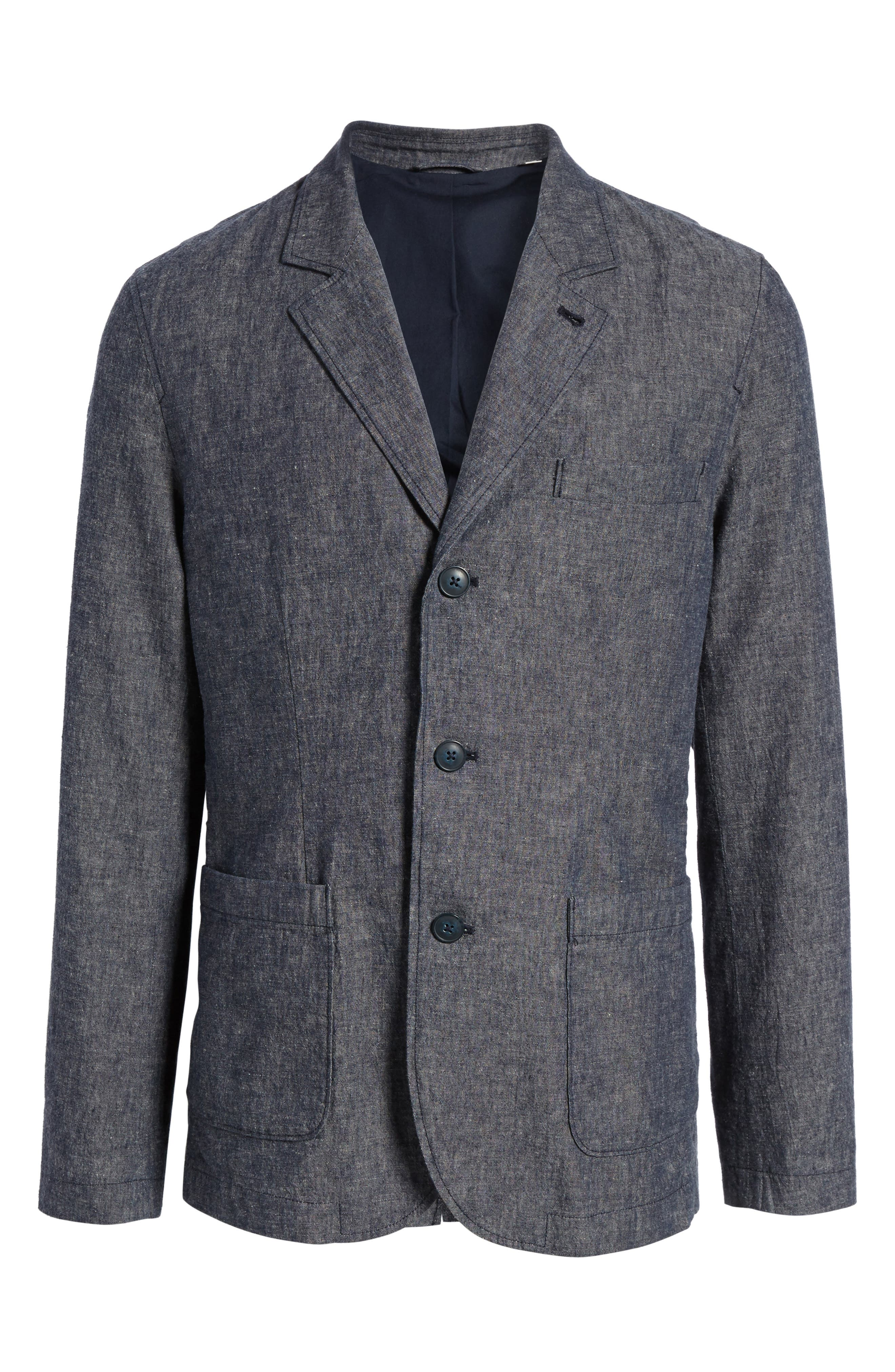 Trunnel Slim Fit Linen Blend Blazer,                             Alternate thumbnail 5, color,                             485