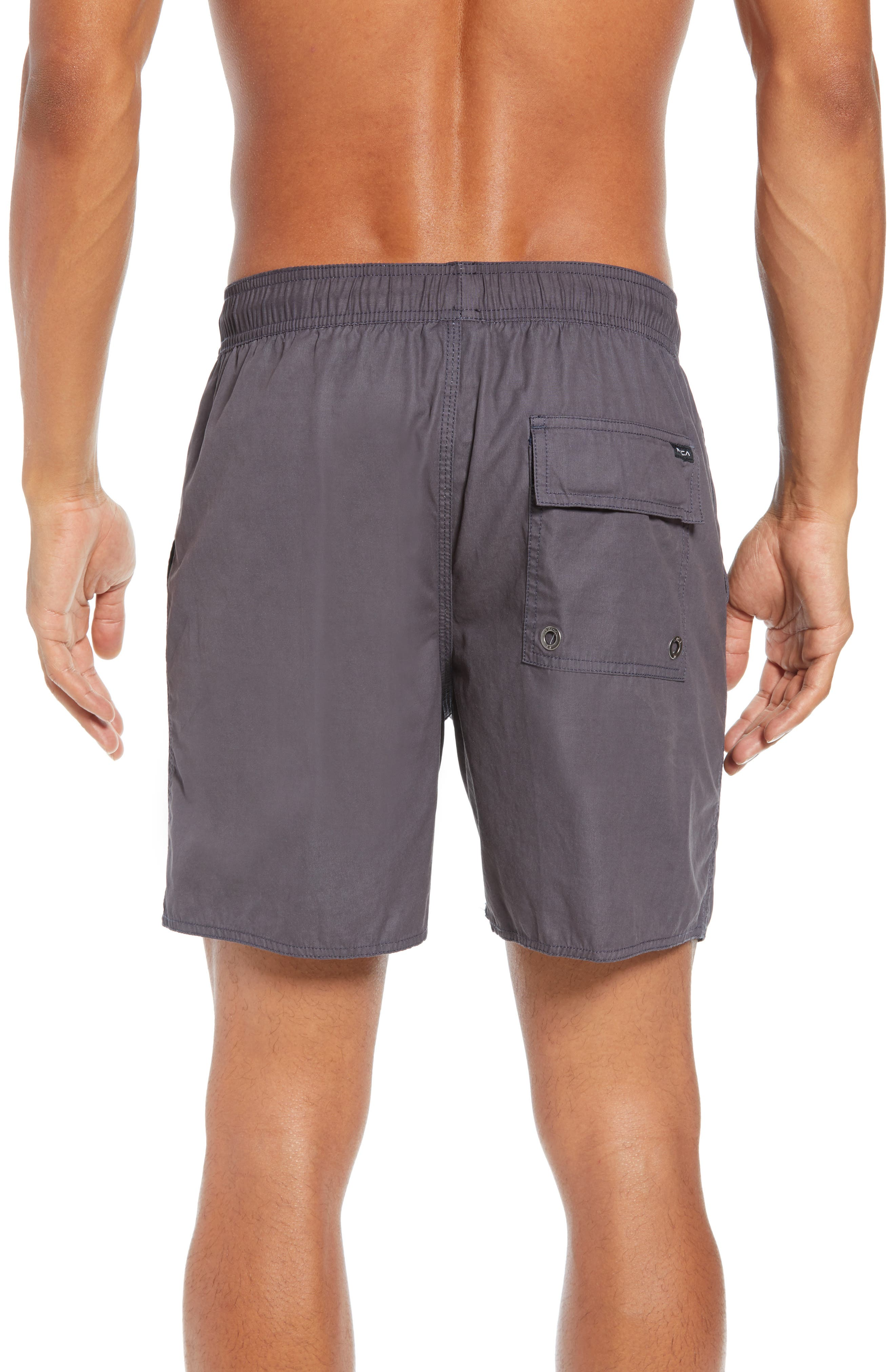 Horton Swim Trunks,                             Alternate thumbnail 2, color,                             OIL GREY