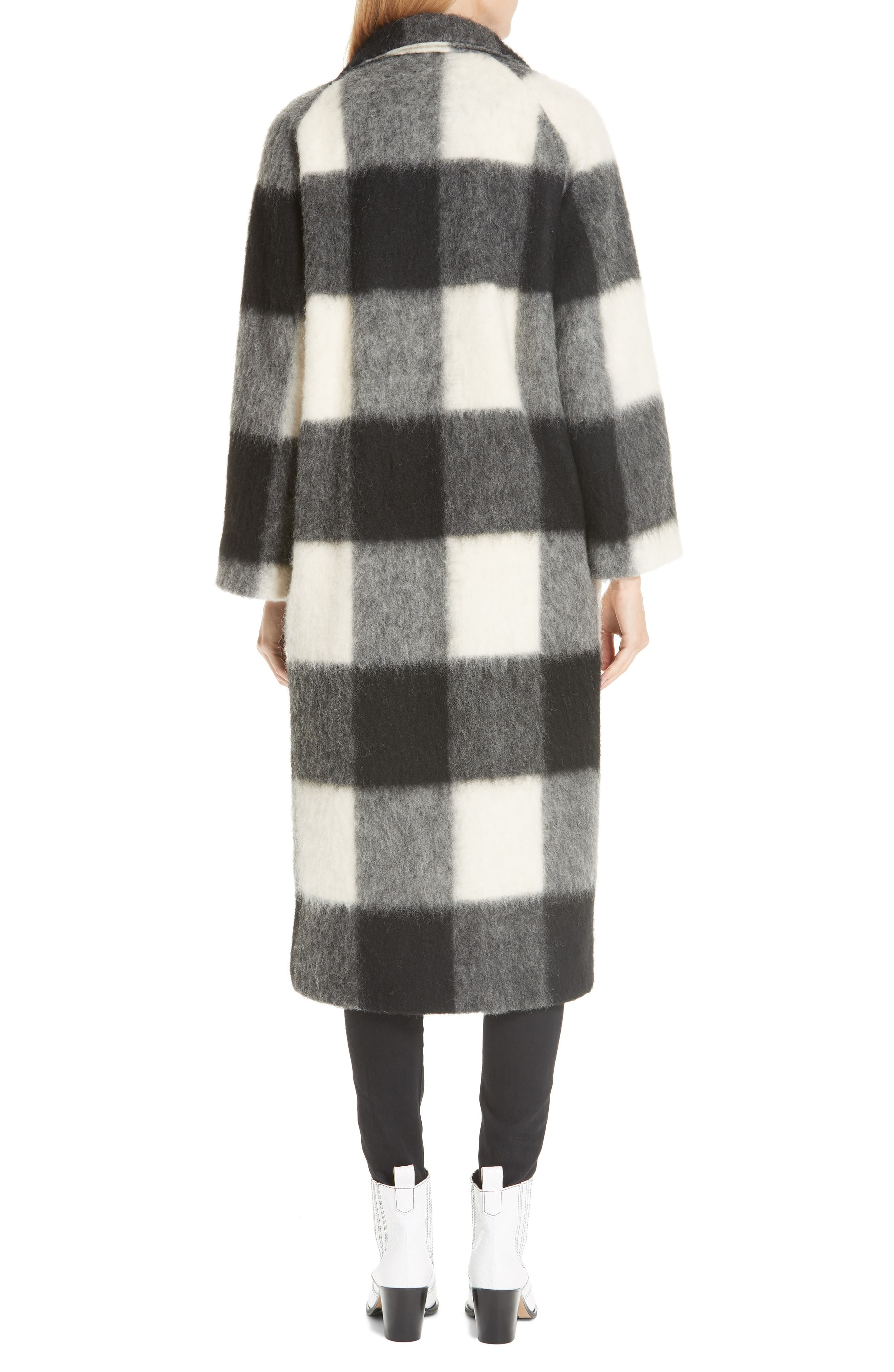 Pattern Wool Blend Coat,                             Alternate thumbnail 2, color,                             900