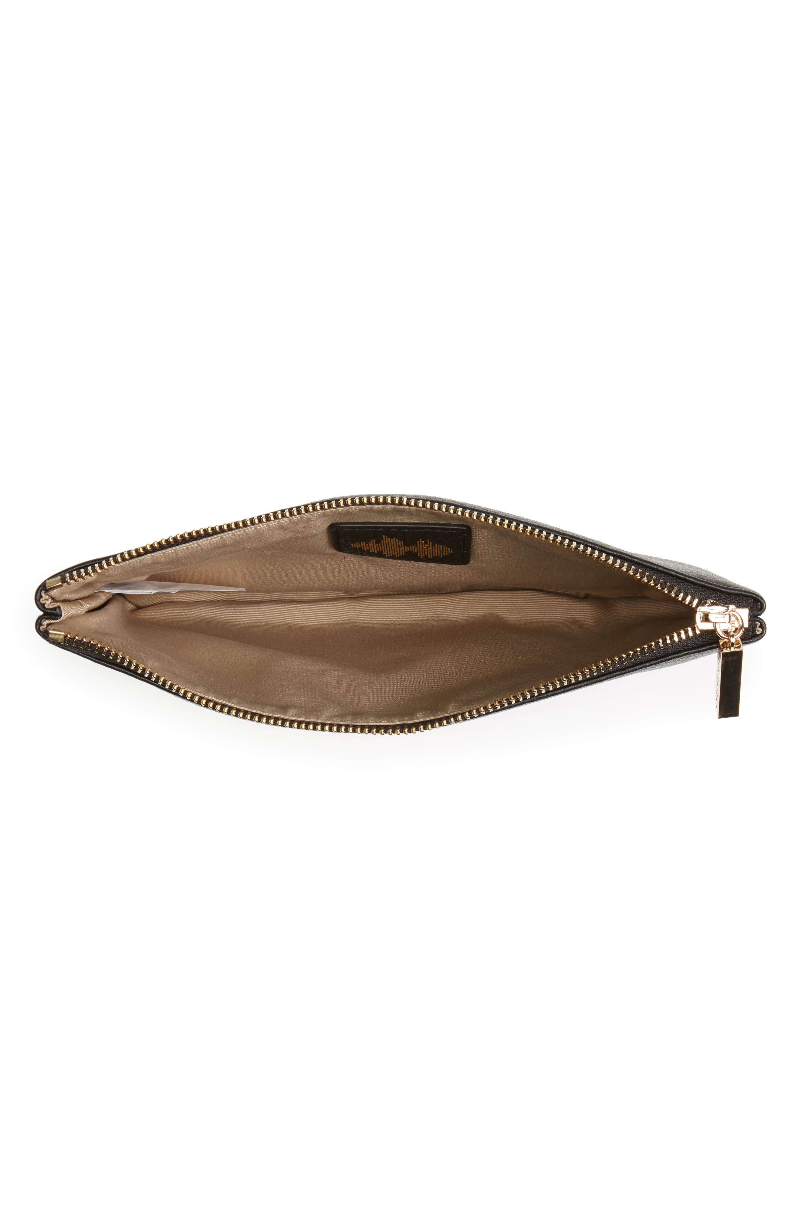 Céline Dion Adagio Leather Zip Pouch,                             Alternate thumbnail 2, color,                             001