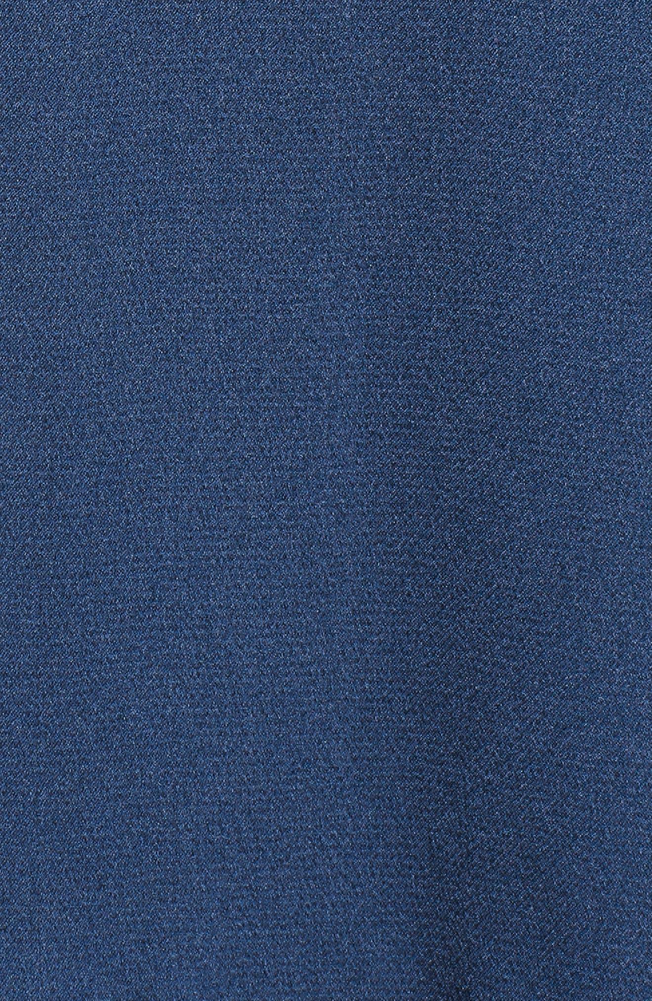 Elsa Satin Ruffle Wrap Minidress,                             Alternate thumbnail 6, color,                             420