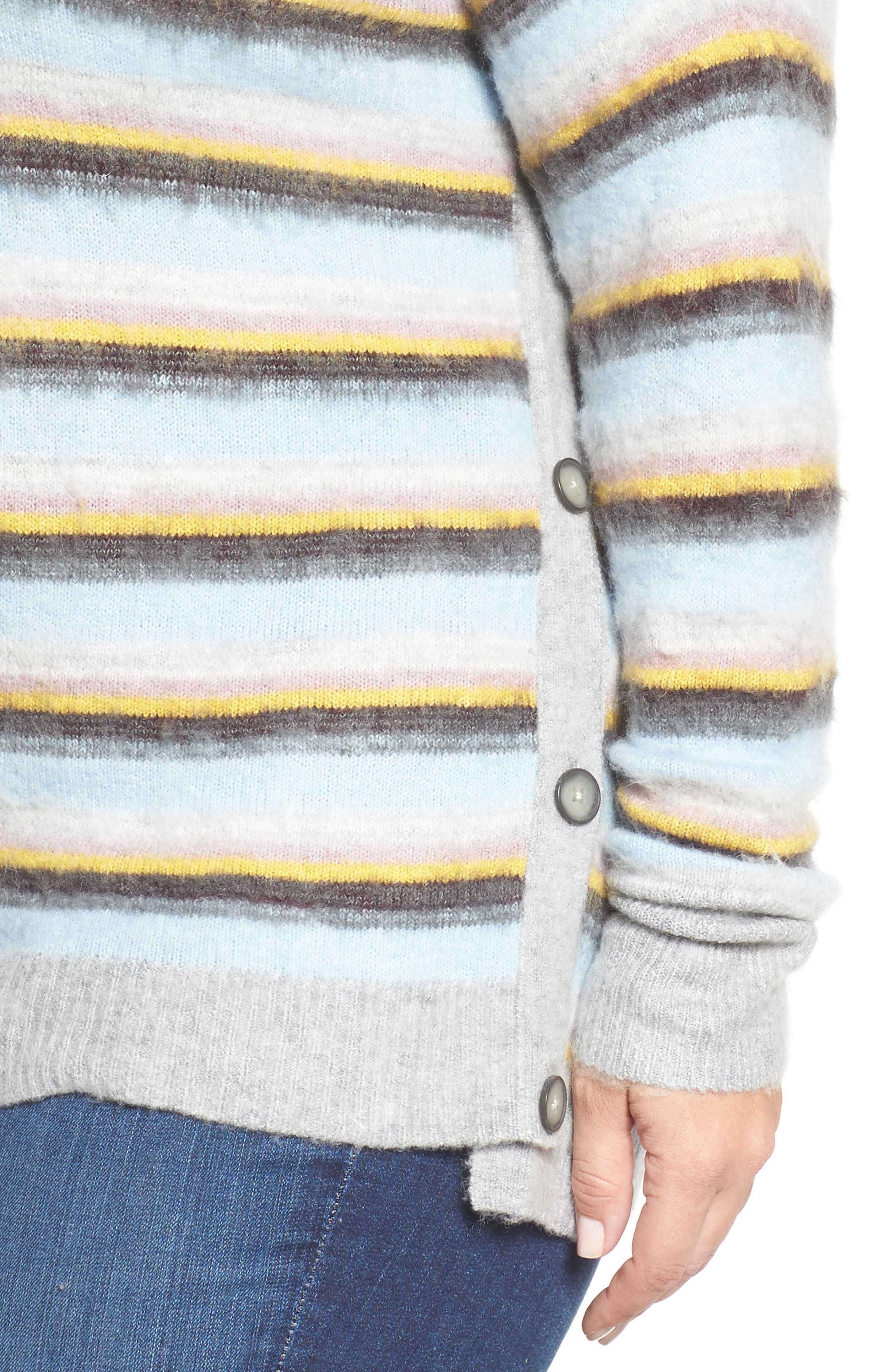 Side Button Sweater,                             Alternate thumbnail 4, color,                             030