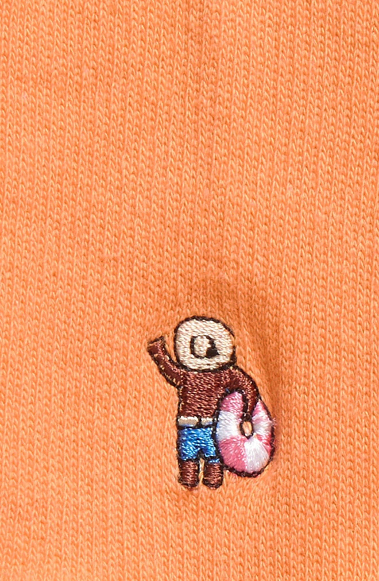 Dude Everyday Crew Socks,                             Alternate thumbnail 2, color,                             ORANGE