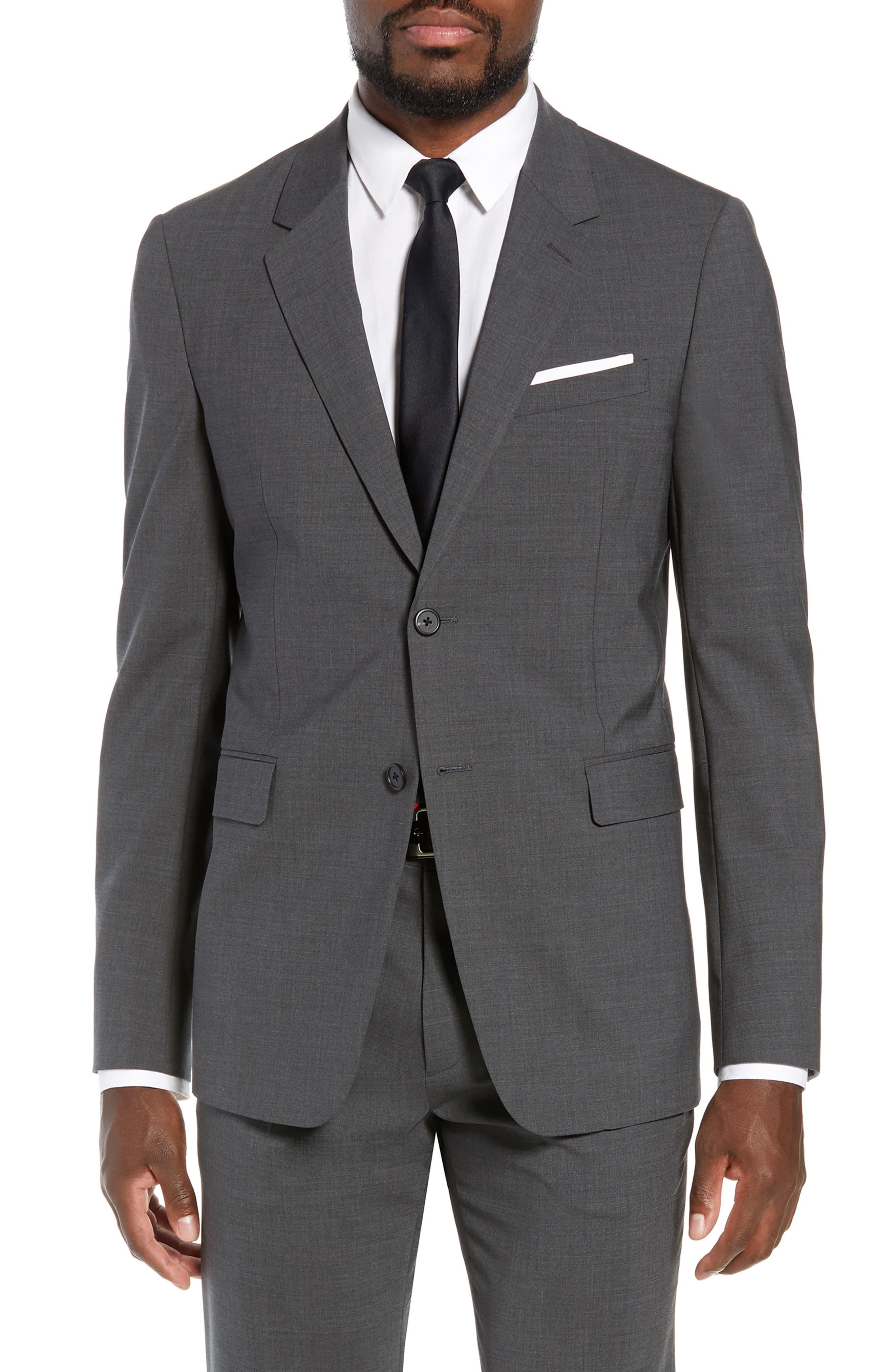 New Tailor Chambers Blazer, Main, color, MEDIUM CHARCOAL