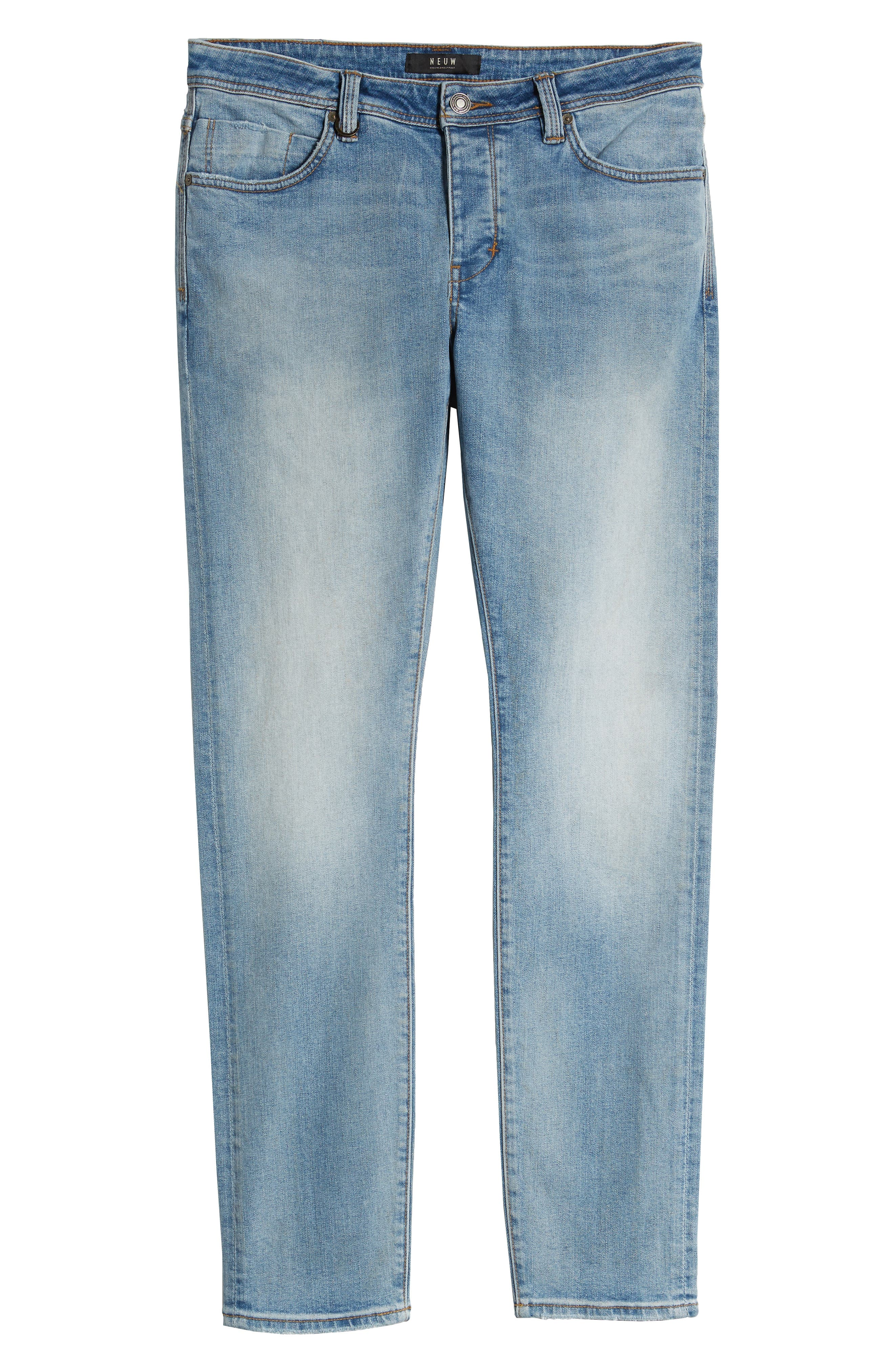 Iggy Skinny Fit Jeans,                             Alternate thumbnail 4, color,                             ATOMIC AIRWASH