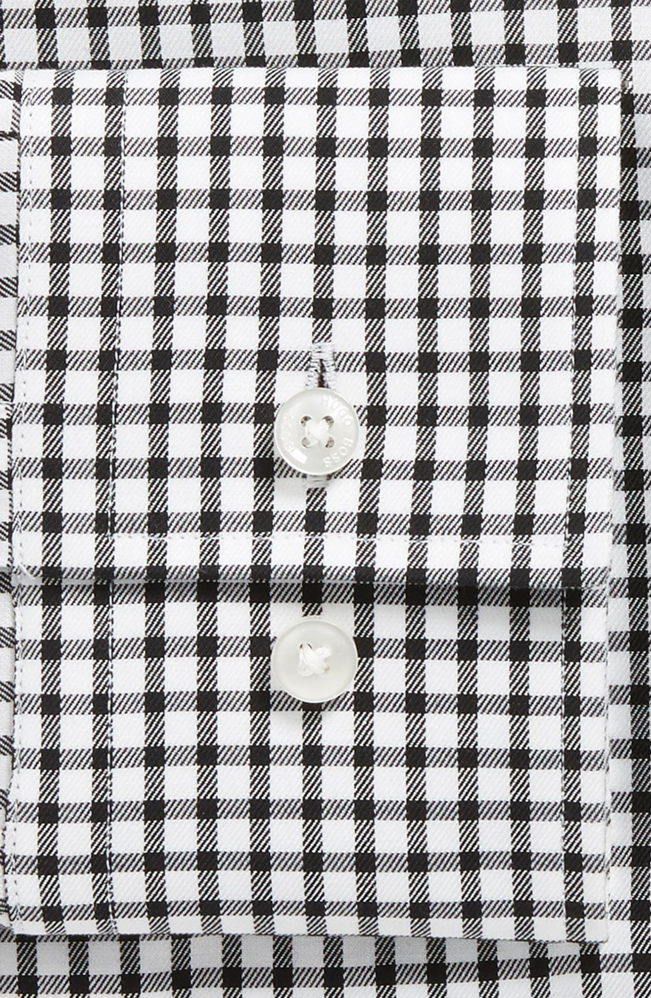 Jason Trim Fit Check Dress Shirt,                             Alternate thumbnail 6, color,                             002