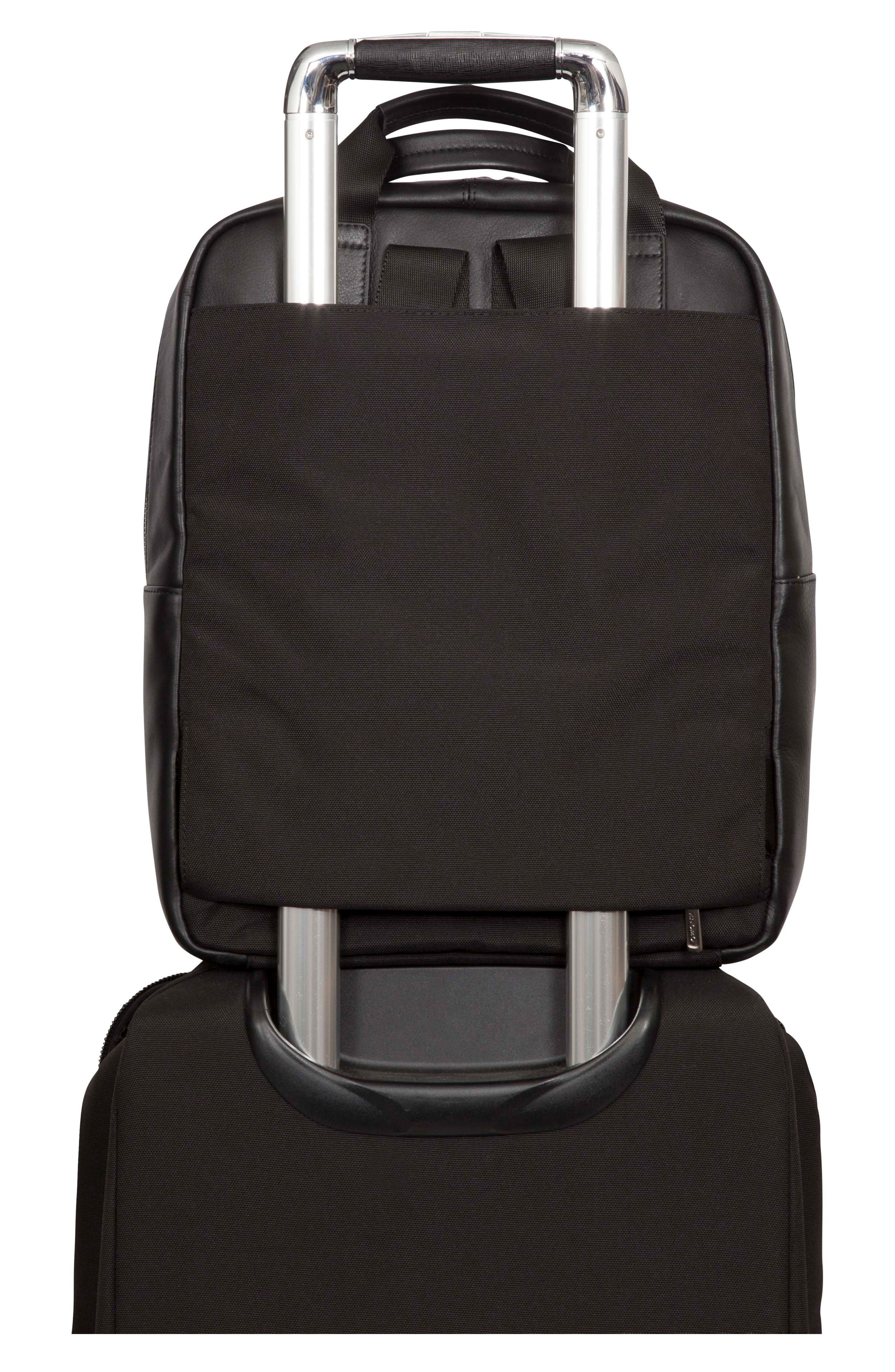 Brompton Dale Leather Totepack,                             Alternate thumbnail 6, color,                             001