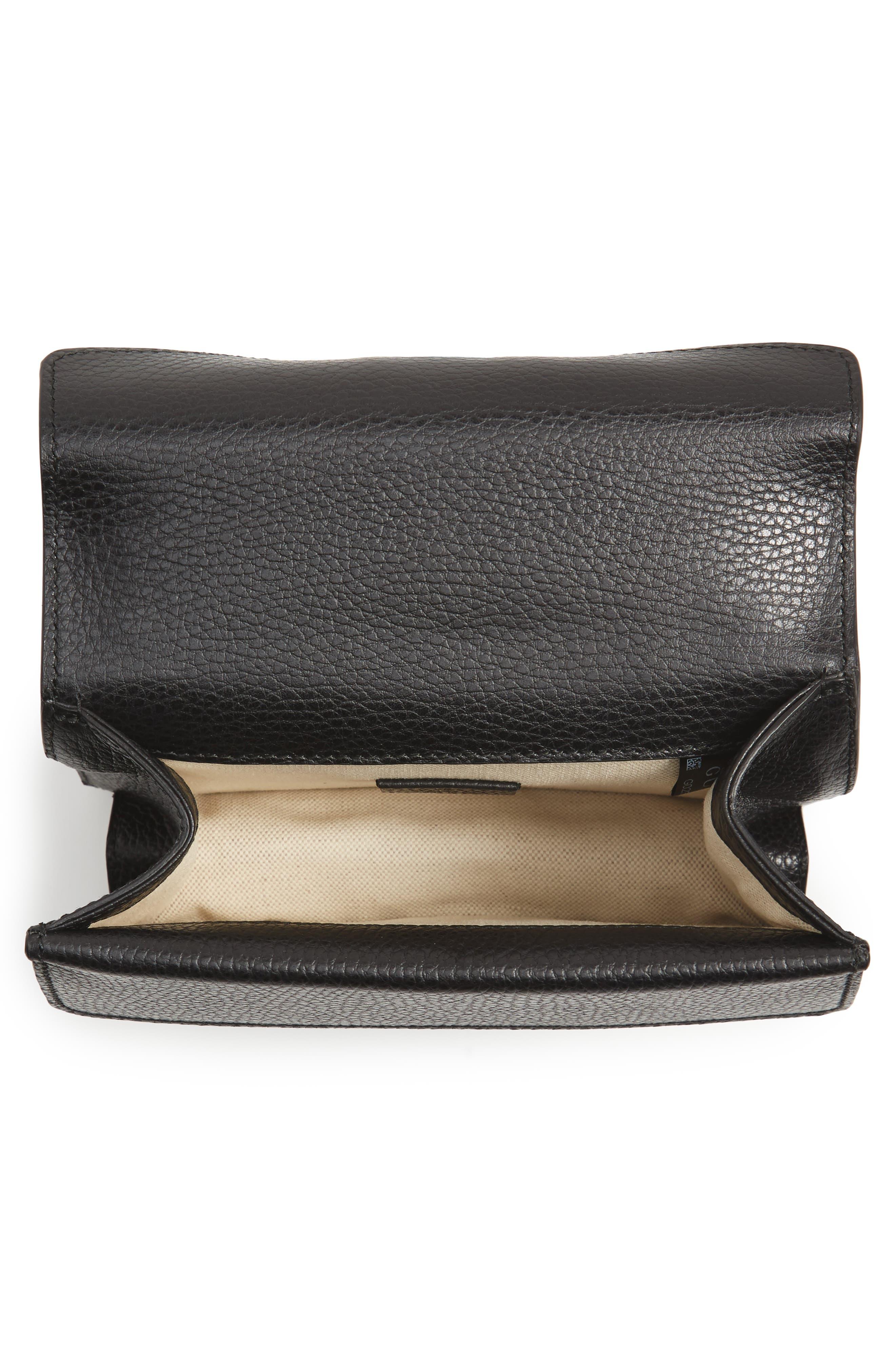 Mini Dionysus Leather Shoulder Bag,                             Alternate thumbnail 4, color,                             NERO/ BLACK DIAMOND