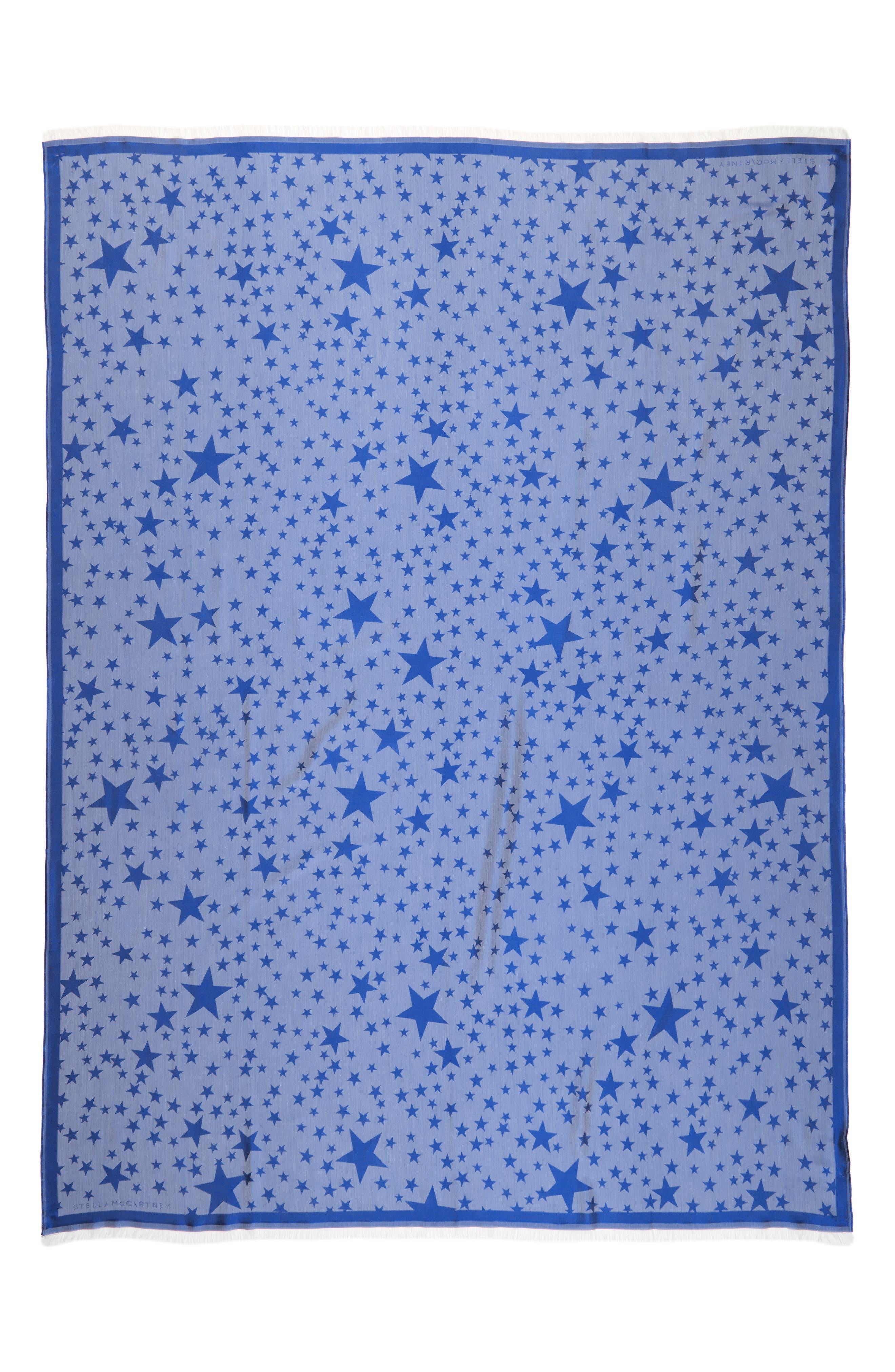 Star Jacquard Silk & Modal Scarf,                         Main,                         color, 400