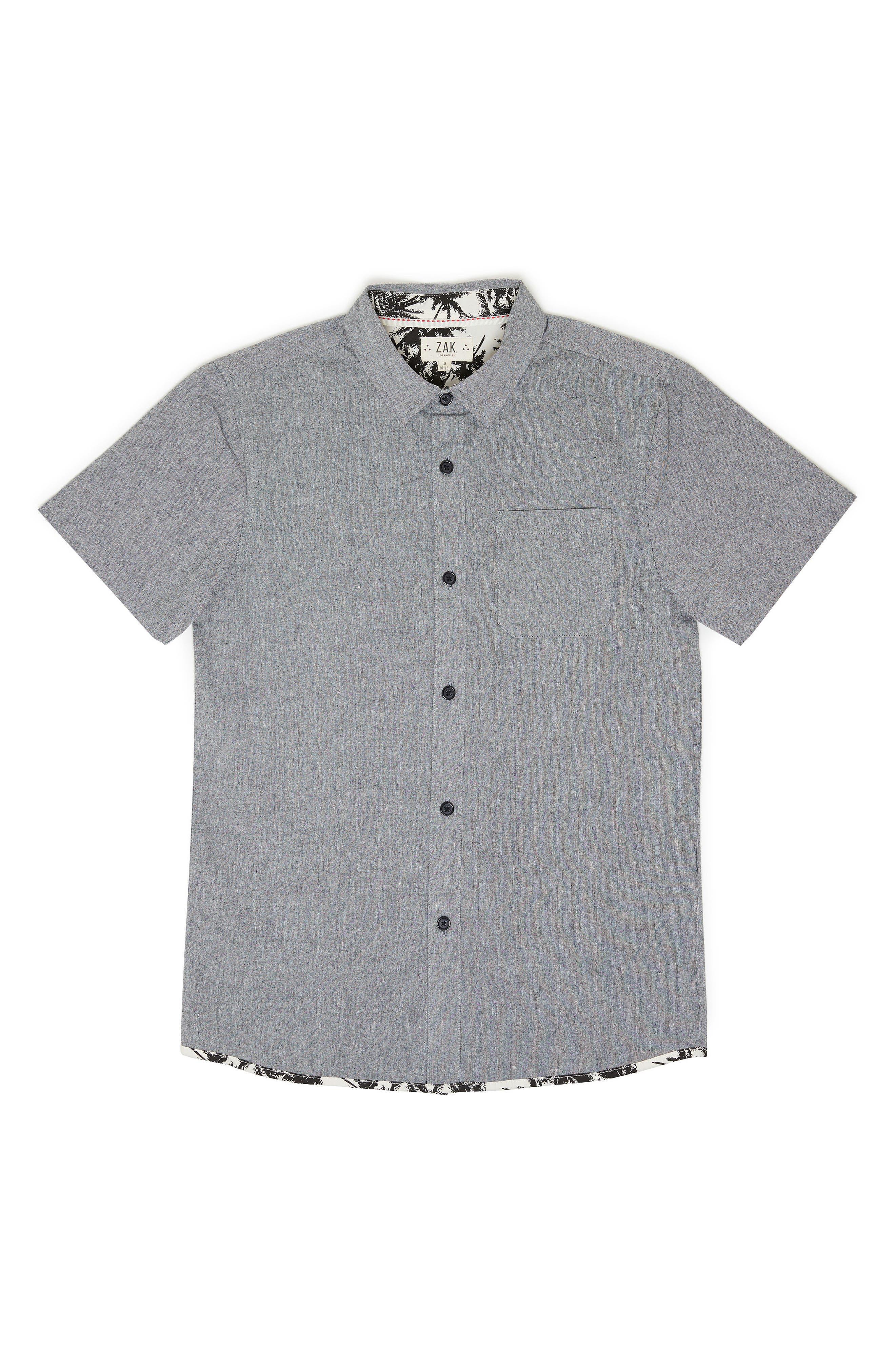 Chambray Woven Shirt,                         Main,                         color, 001
