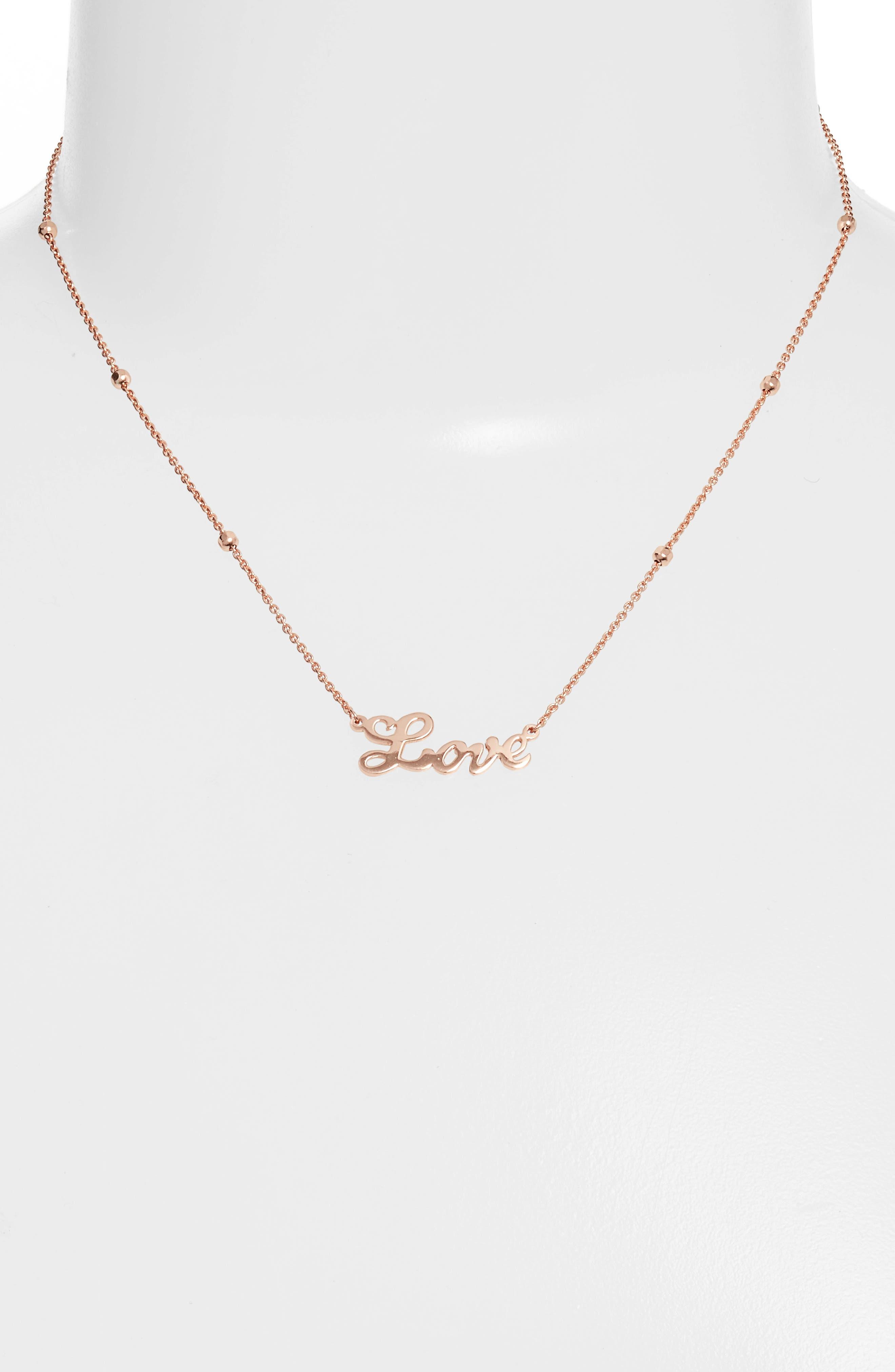 Love Pendant Necklace,                             Alternate thumbnail 5, color,