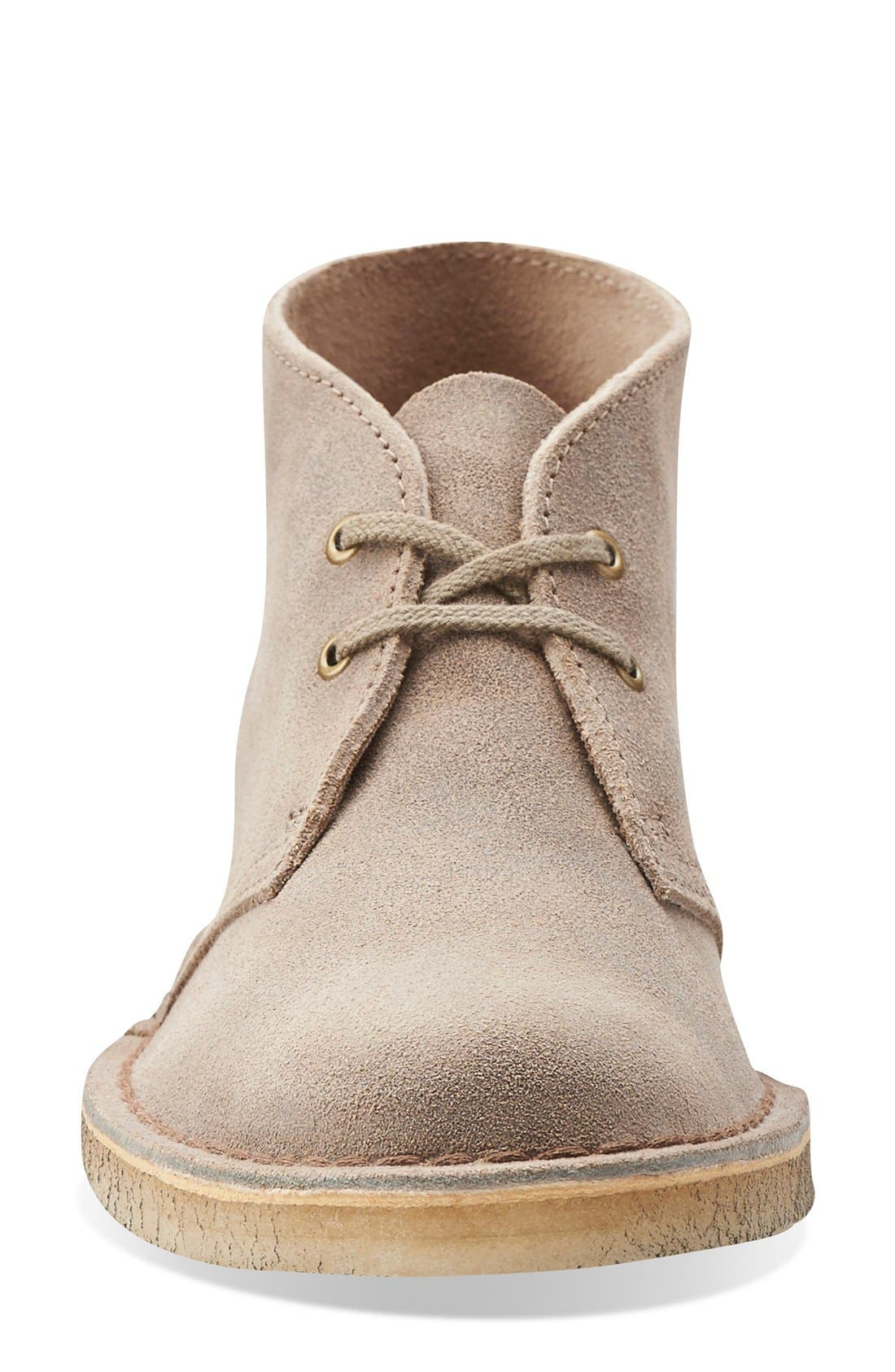 Desert Boot,                             Alternate thumbnail 3, color,                             TAUPE DISTRESSED SUEDE