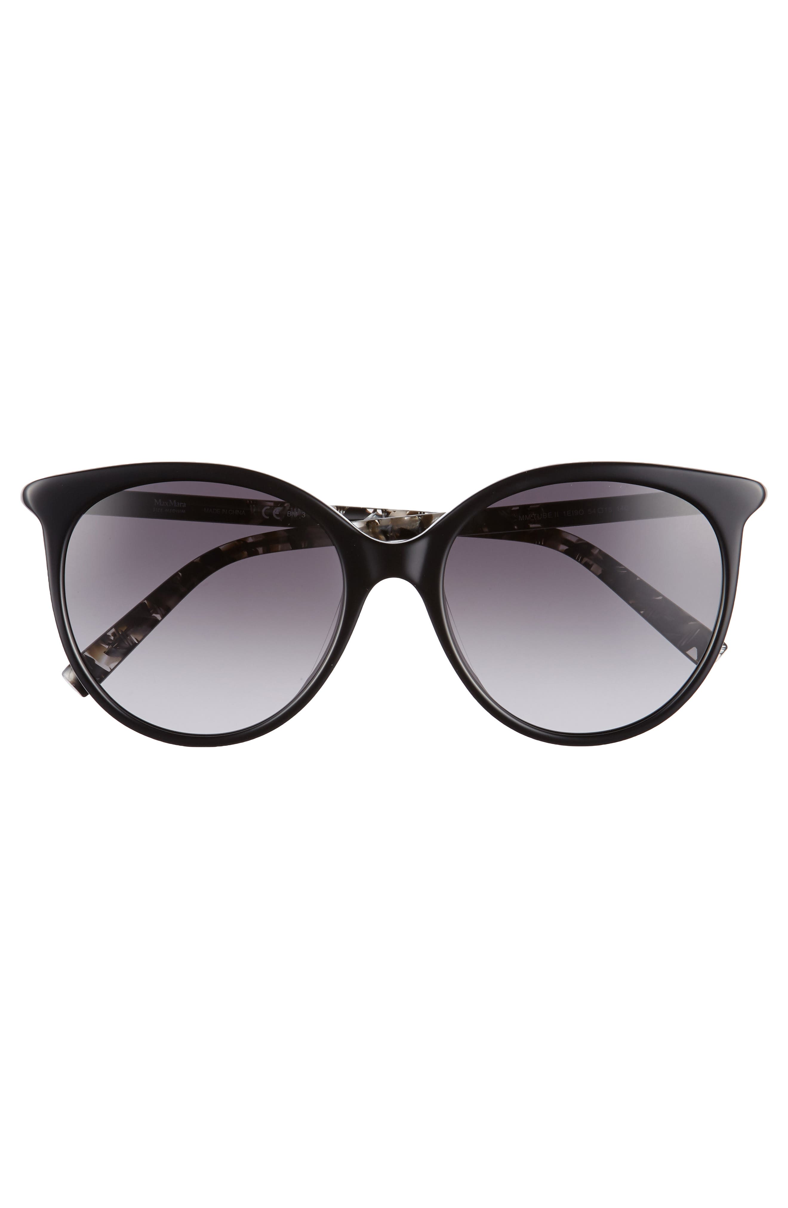 Tube 54mm Gradient Lens Cat Eye Sunglasses,                             Alternate thumbnail 3, color,                             BLACK/ GREY