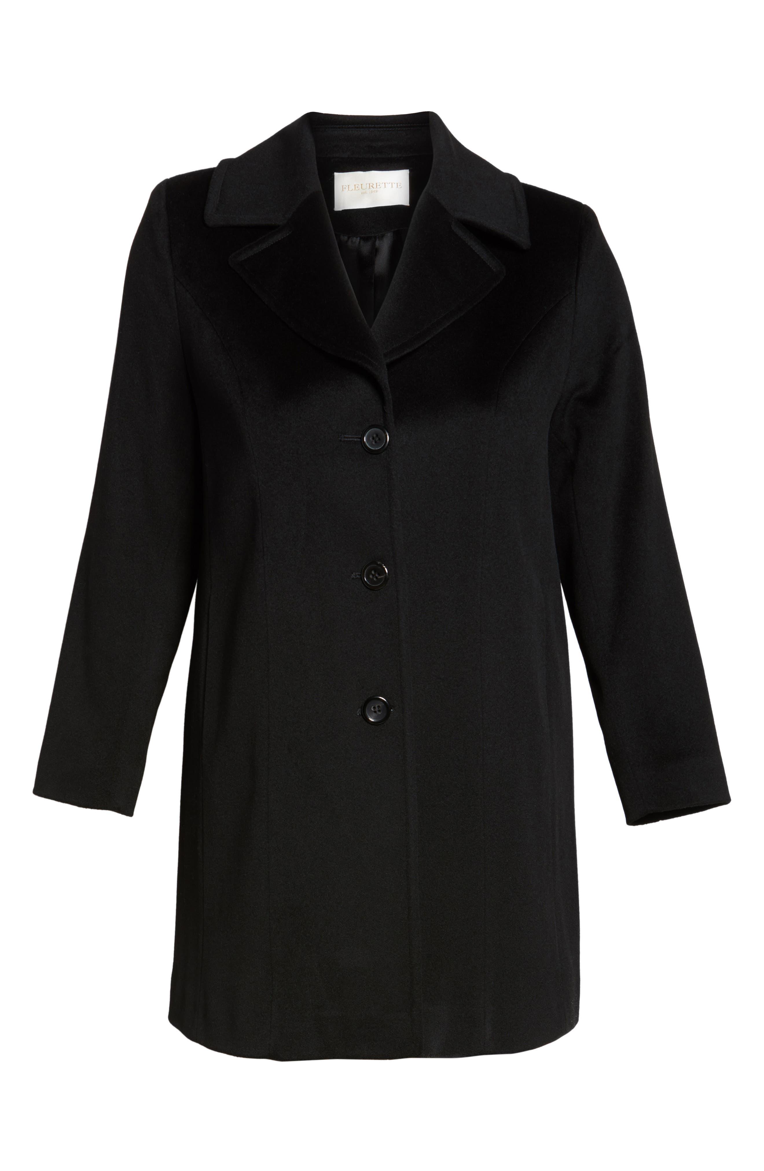 Wool Walking Coat,                             Alternate thumbnail 5, color,                             001