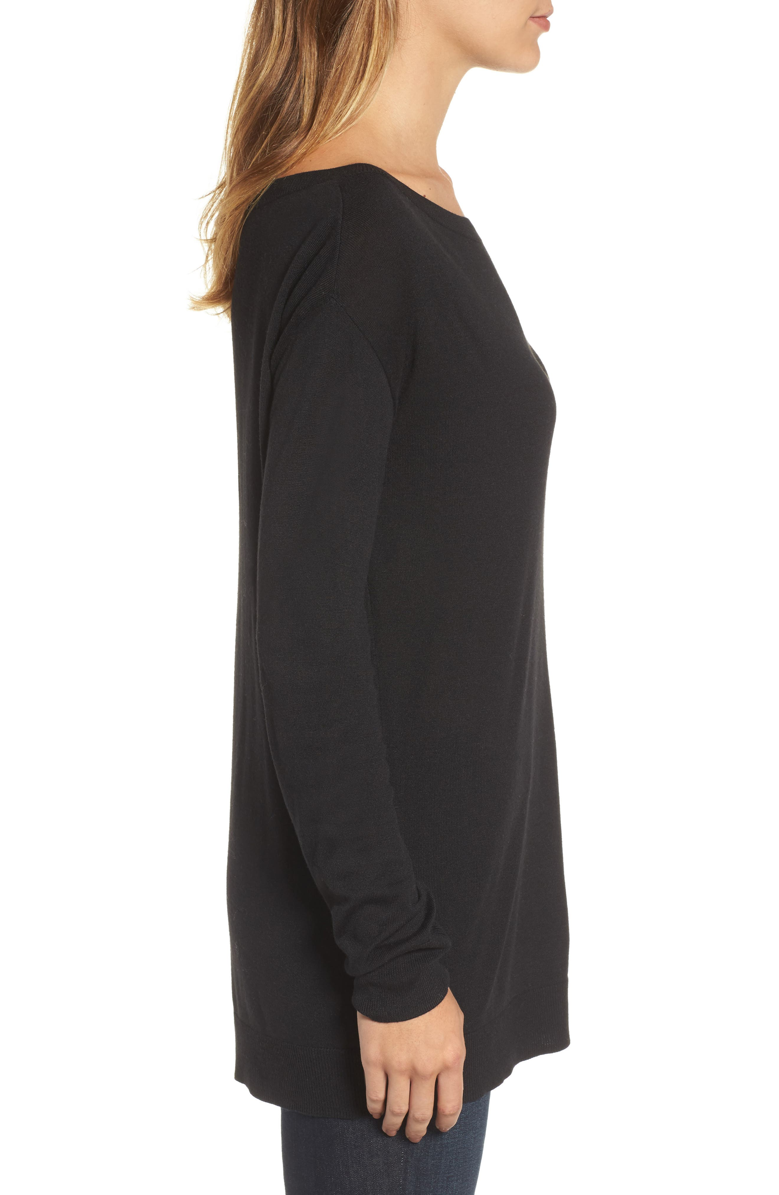 Boatneck Tunic Sweater,                             Alternate thumbnail 16, color,