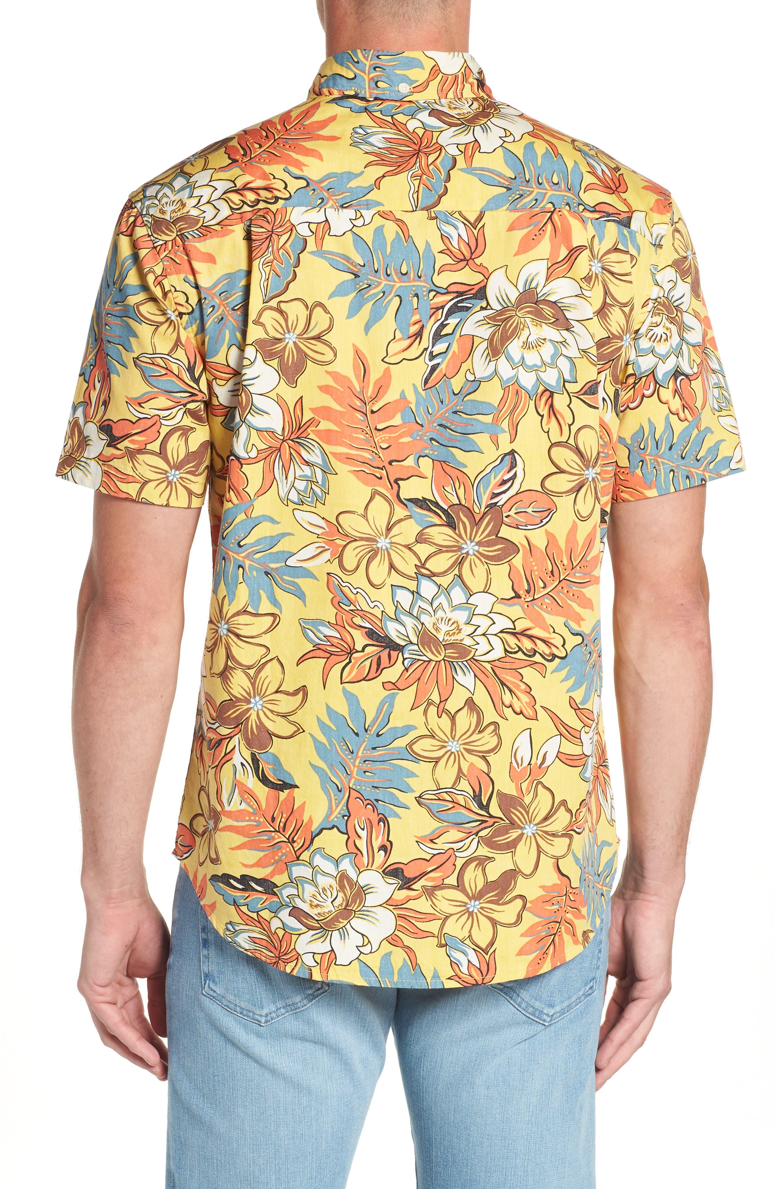 Vintage Hawaiian Regular Fit Floral Sport Shirt,                             Alternate thumbnail 2, color,                             700
