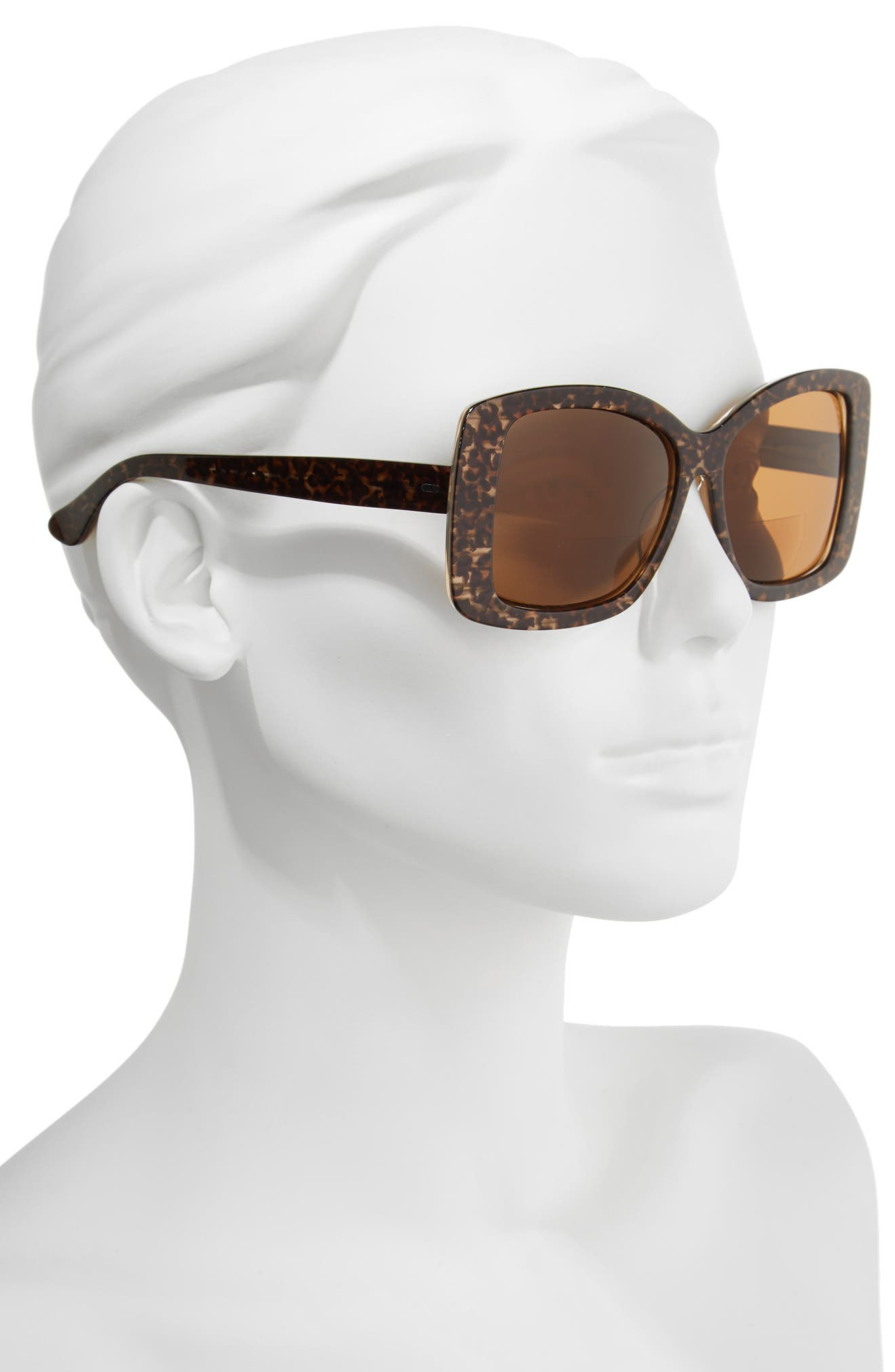 Brooklyn 54mm Reading Sunglasses,                             Alternate thumbnail 2, color,                             BROWN