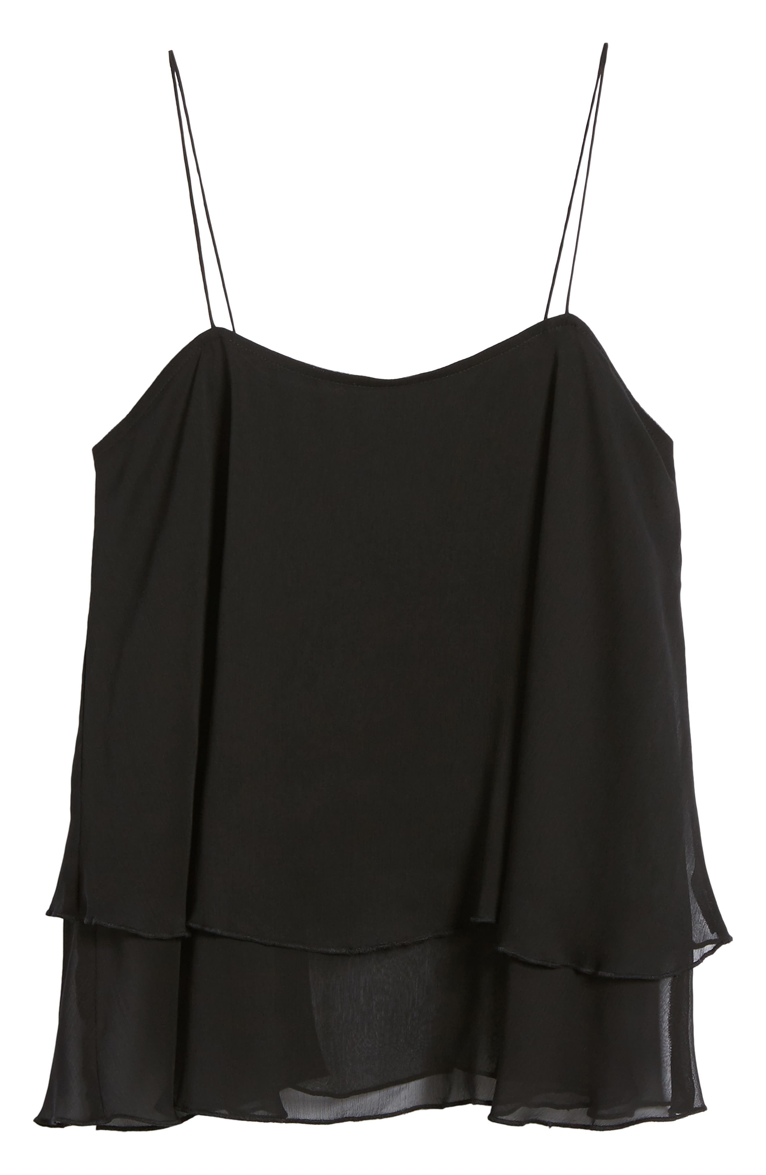 Tiered Chiffon Camisole,                             Alternate thumbnail 17, color,
